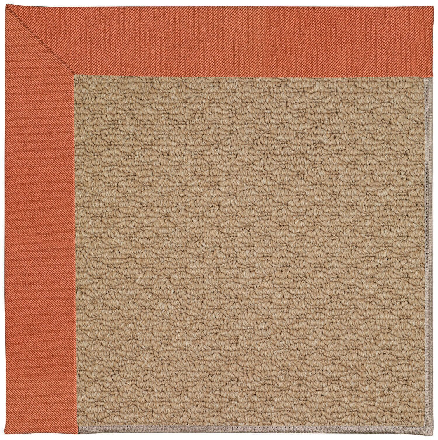 Lisle Machine Woven Clay/Brown Indoor/Outdoor Area Rug Rug Size: Rectangle 8' x 10'