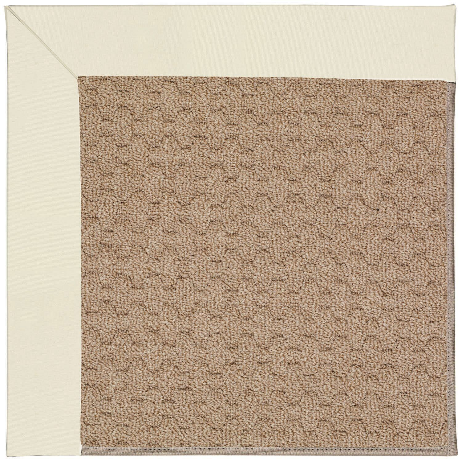 Lisle Machine Tufted Alabaster/Brown Indoor/Outdoor Area Rug Rug Size: Rectangle 4' x 6'