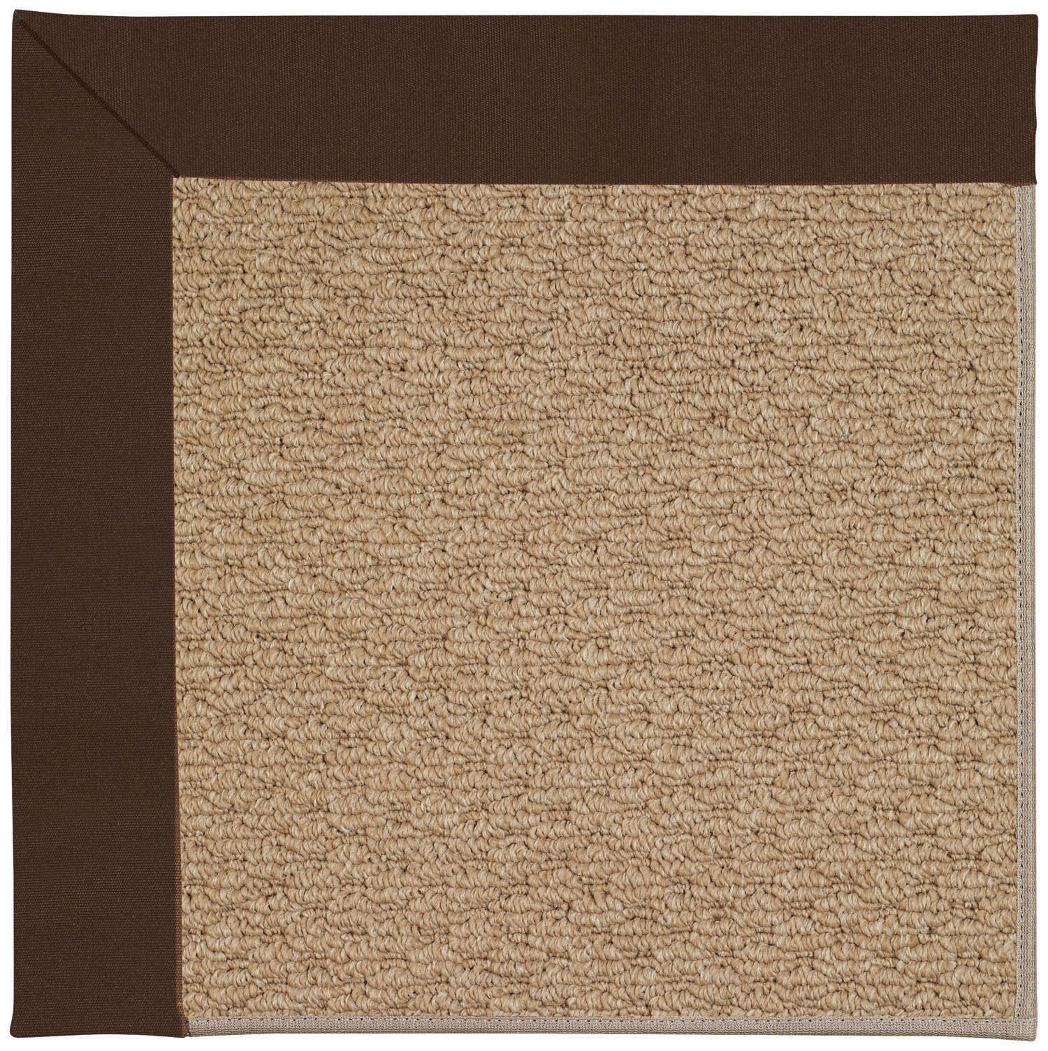 Lisle Machine Tufted Brown Indoor/Outdoor Area Rug Rug Size: Square 4'