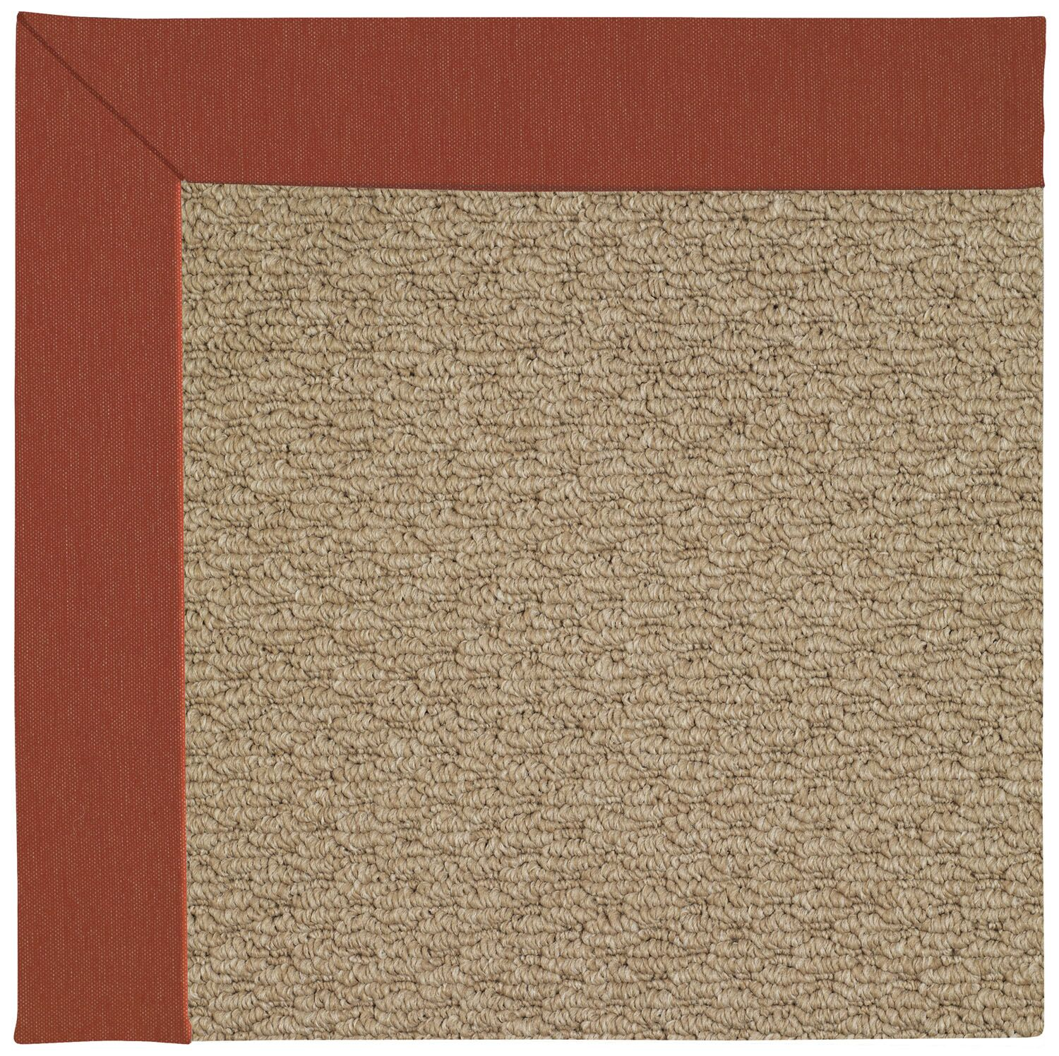 Lisle Machine Tufted Red/Brown Indoor/Outdoor Area Rug Rug Size: Square 6'