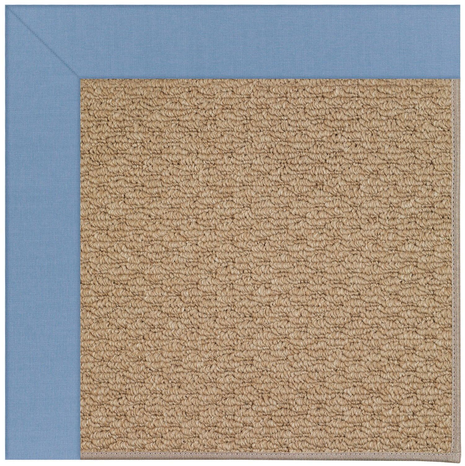 Lisle Machine Tufted Blue/Brown Indoor/Outdoor Area Rug Rug Size: Rectangle 4' x 6'