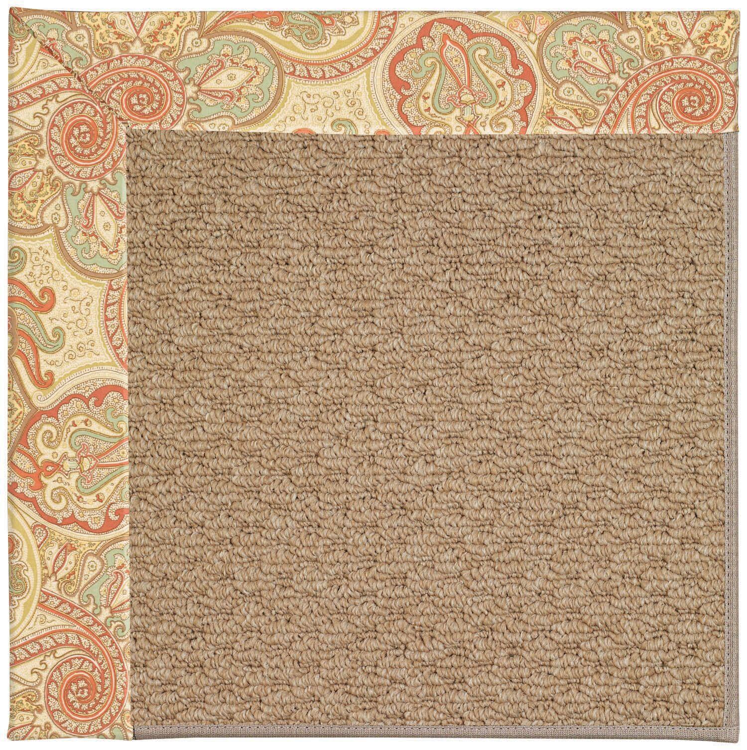 Lisle Machine Tufted Auburn/Brown Indoor/Outdoor Area Rug Rug Size: Square 6'