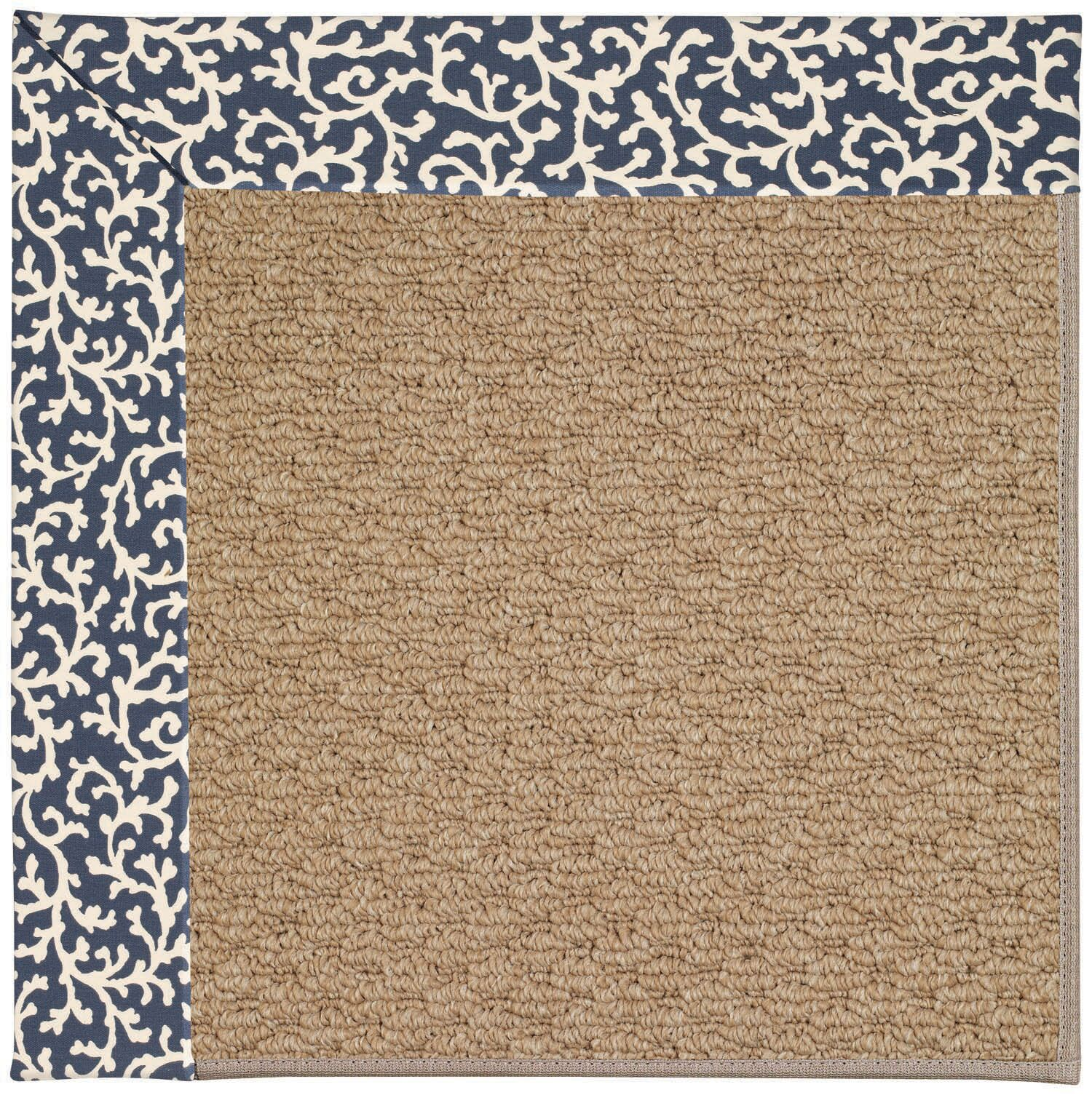 Lisle Machine Tufted Midnight/Brown Indoor/Outdoor Area Rug Rug Size: Square 8'