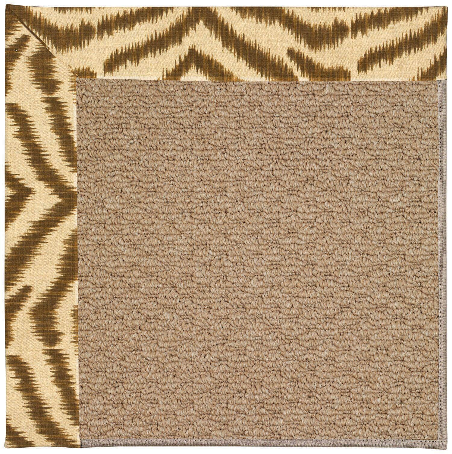 Lisle Machine Tufted Tawny/Brown Indoor/Outdoor Area Rug Rug Size: Rectangle 8' x 10'