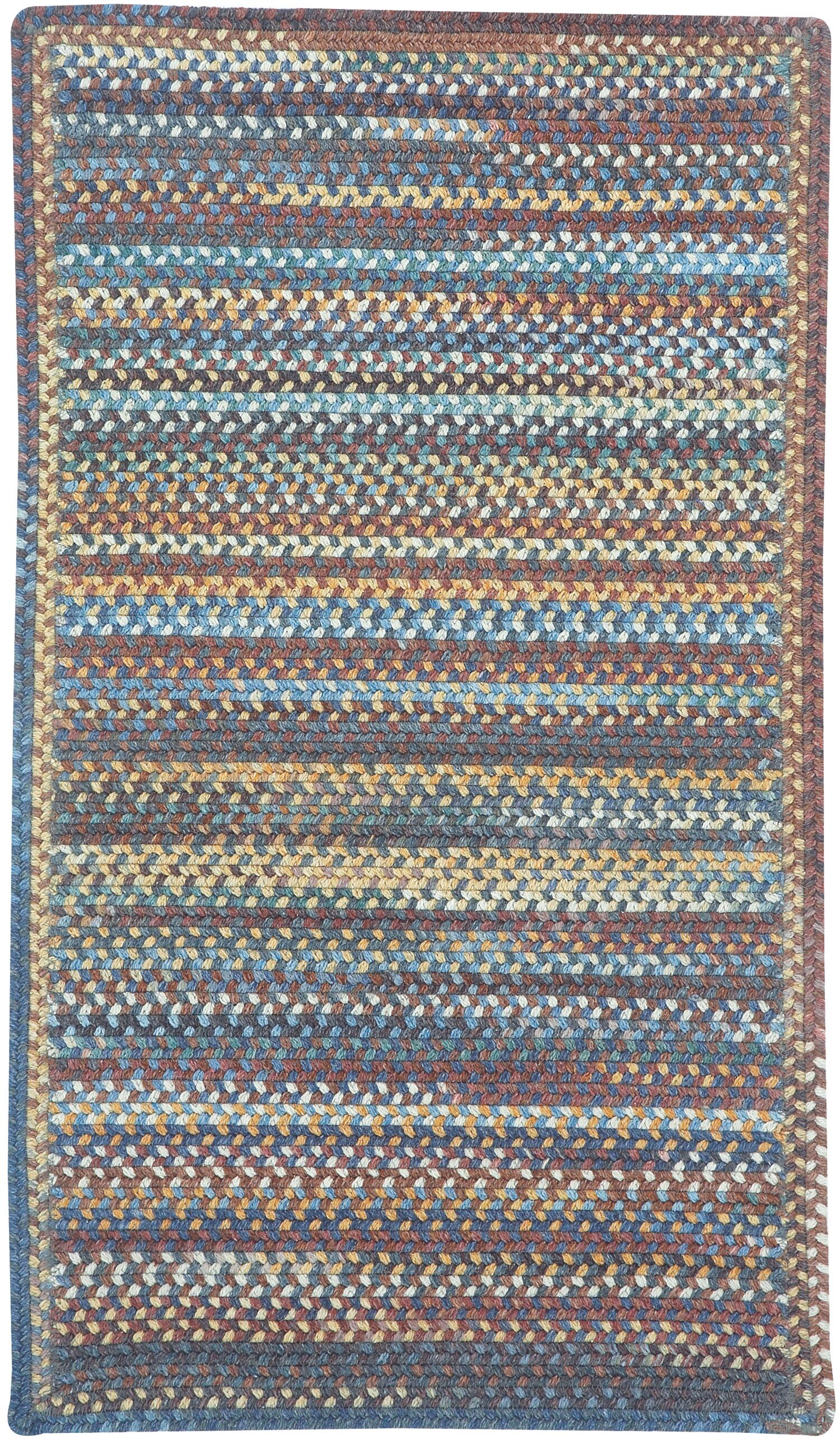 Phoebe Medium Blue Multi Rug Rug Size: Rectangle Oblong 2' x 4'