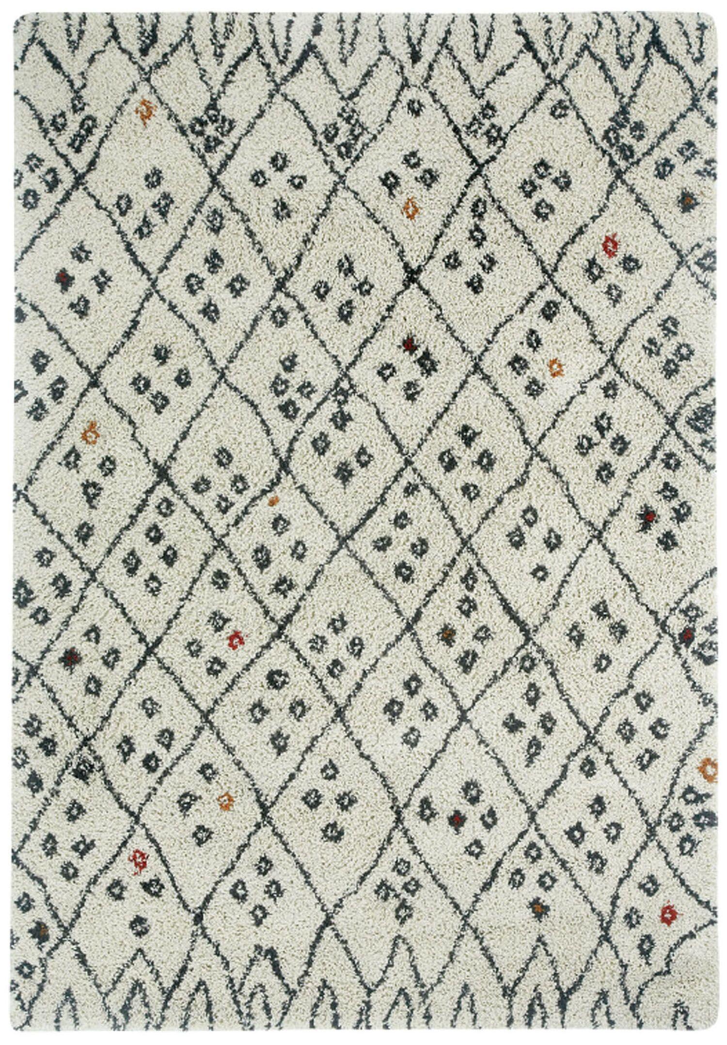 Woodward Cobblestone Black/Cream Area Rug Rug Size: Rectangle 3'11
