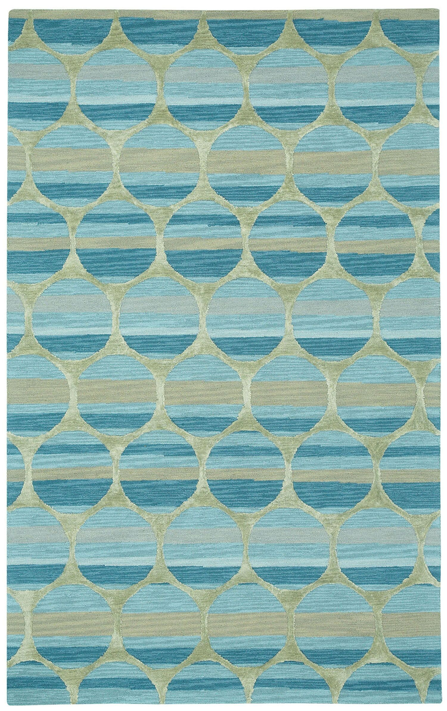 Bucine Blue Trellis Area Rug Rug Size: Rectangle 5' x 8'