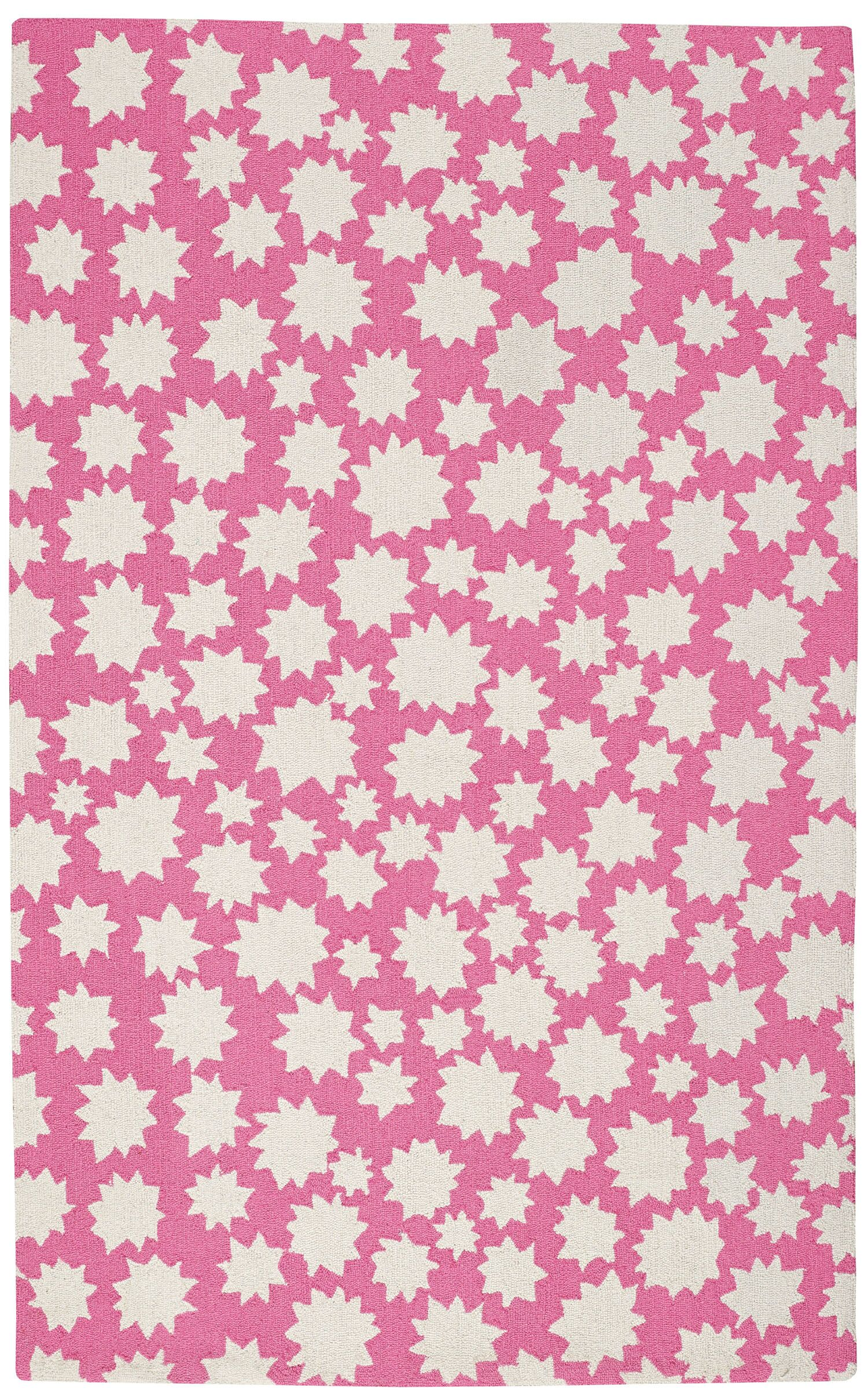 Ezequiel Pink/White Area Rug Rug Size: Rectangle 3'6