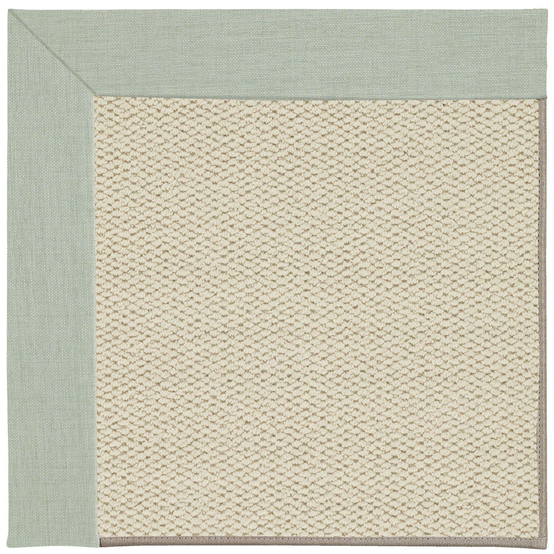 Barrett Linen Machine Tufted Minty/Beige Area Rug Rug Size: Round 12' x 12'