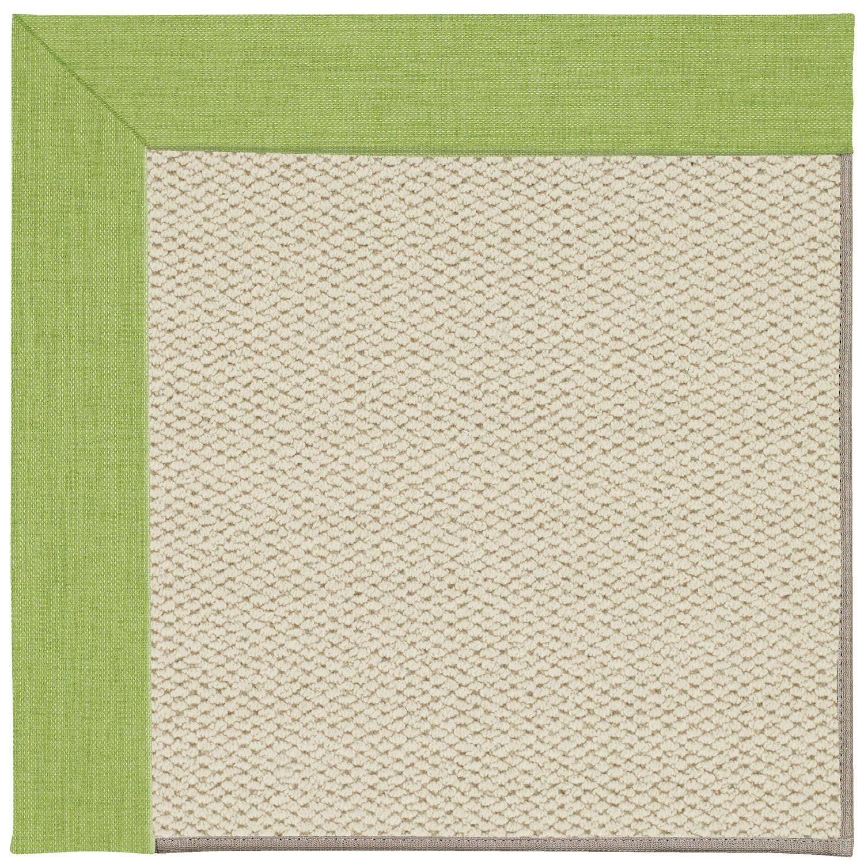 Barrett Linen Machine Tufted Green Grass/Beige Indoor/Outdoor Area Rug Rug Size: Rectangle 5' x 8'