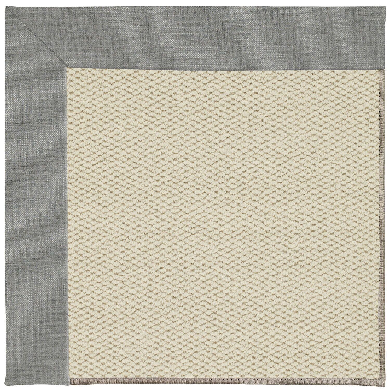 Barrett Linen Machine Tufted Steel/Beige Area Rug Rug Size: Rectangle 4' x 6'