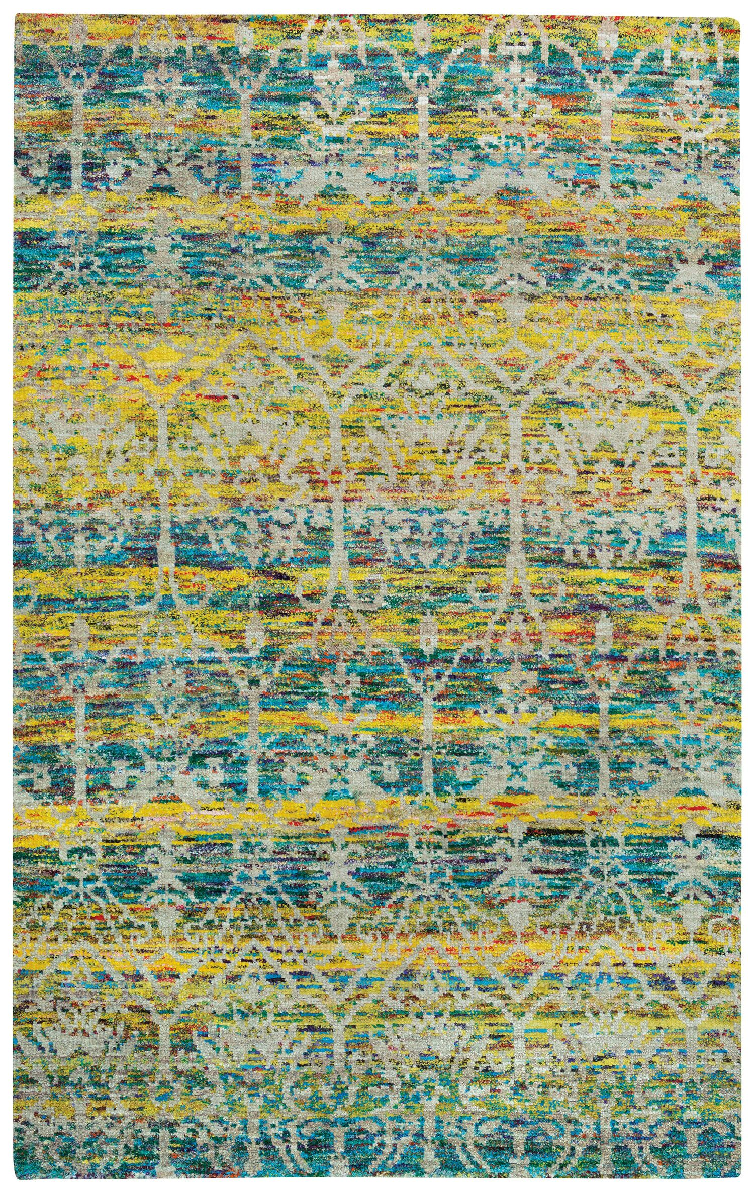 Round About Acrobat Hand Knotted Banana Area Rug Rug Size: 8' x 10'
