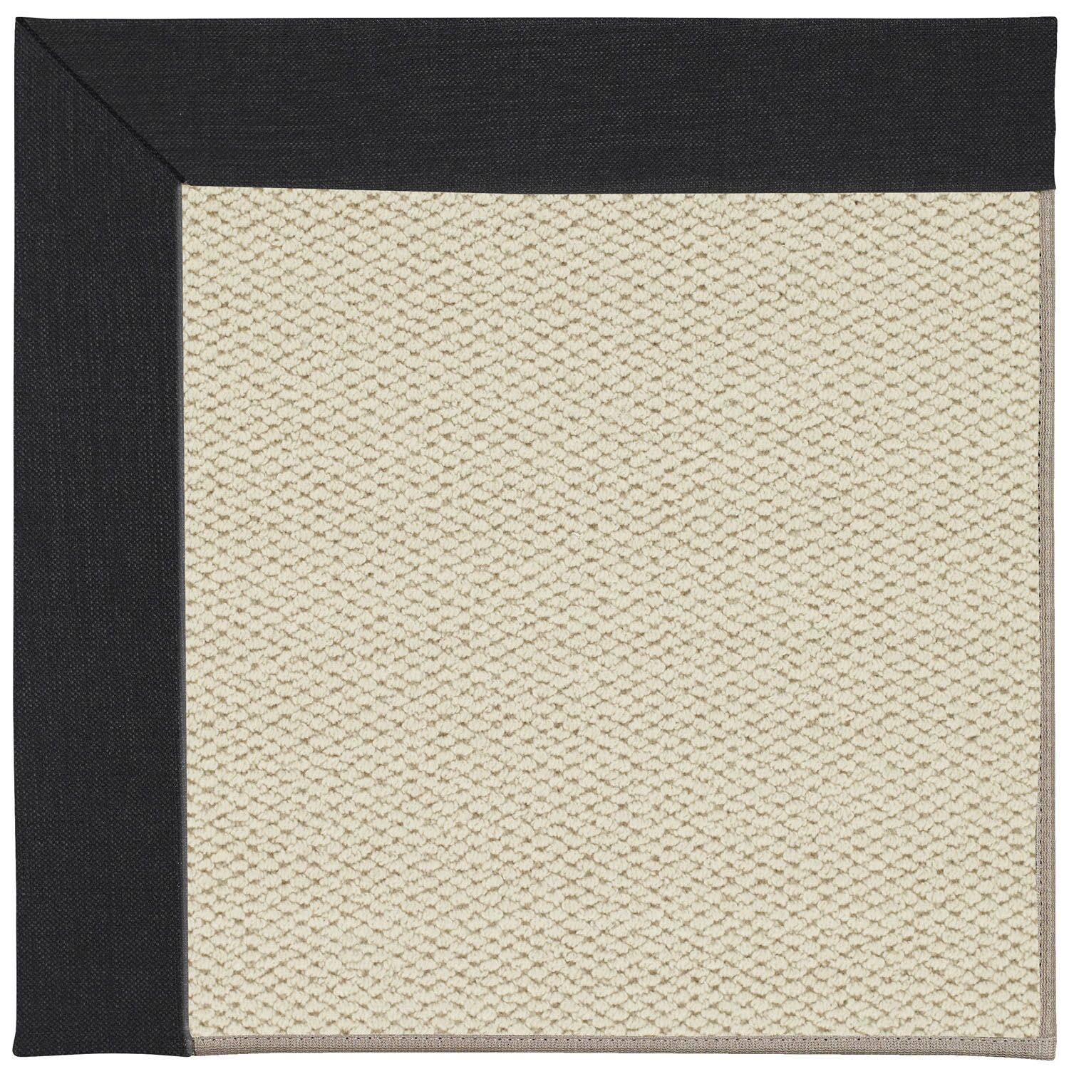 Barrett Linen Machine Tufted Ebony/Brown Area Rug Rug Size: Rectangle 7' x 9'