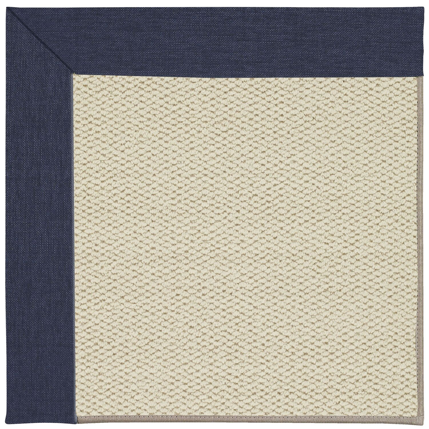 Barrett Linen Machine Tufted Navy/Brown Area Rug Rug Size: Square 10'