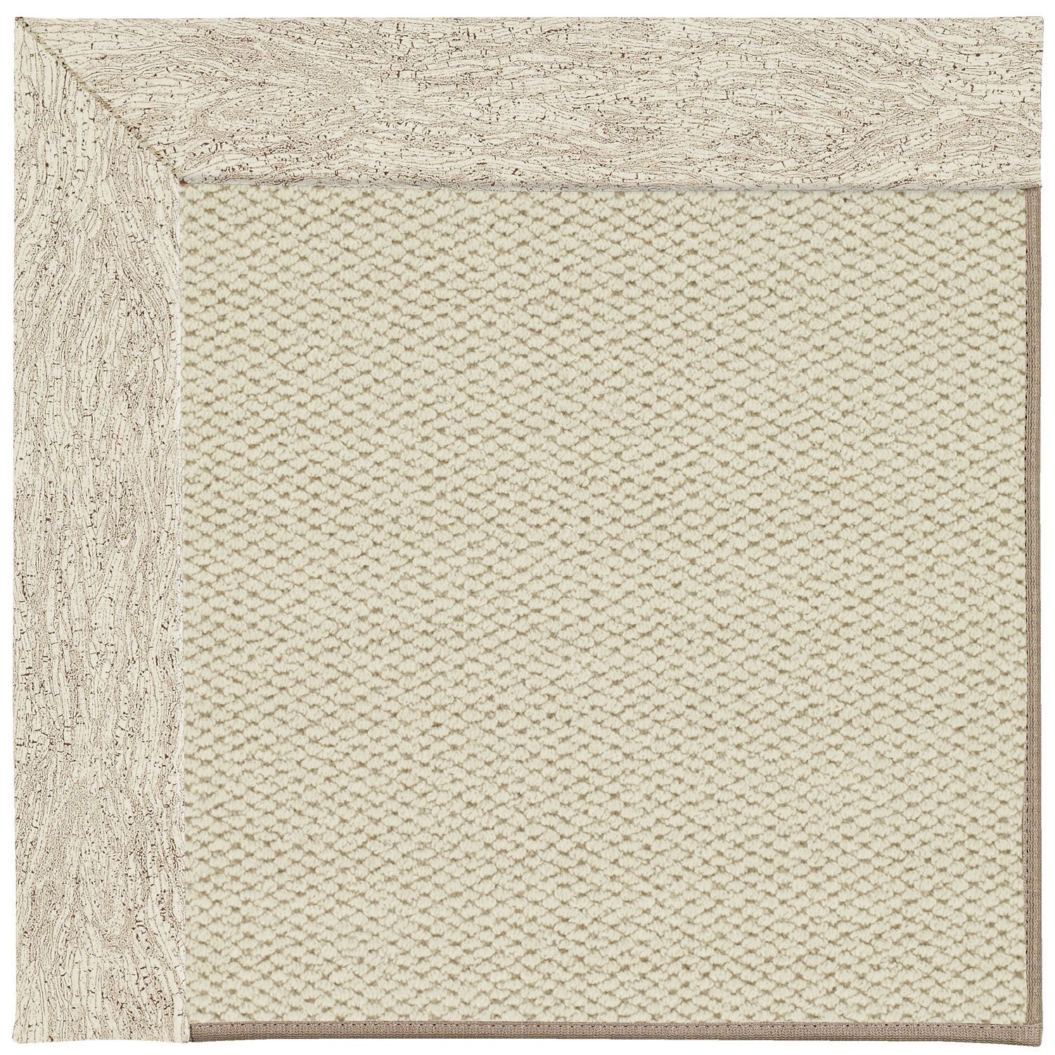 Barrett Linen Machine Tufted Natural Area Rug Rug Size: Round 12' x 12'