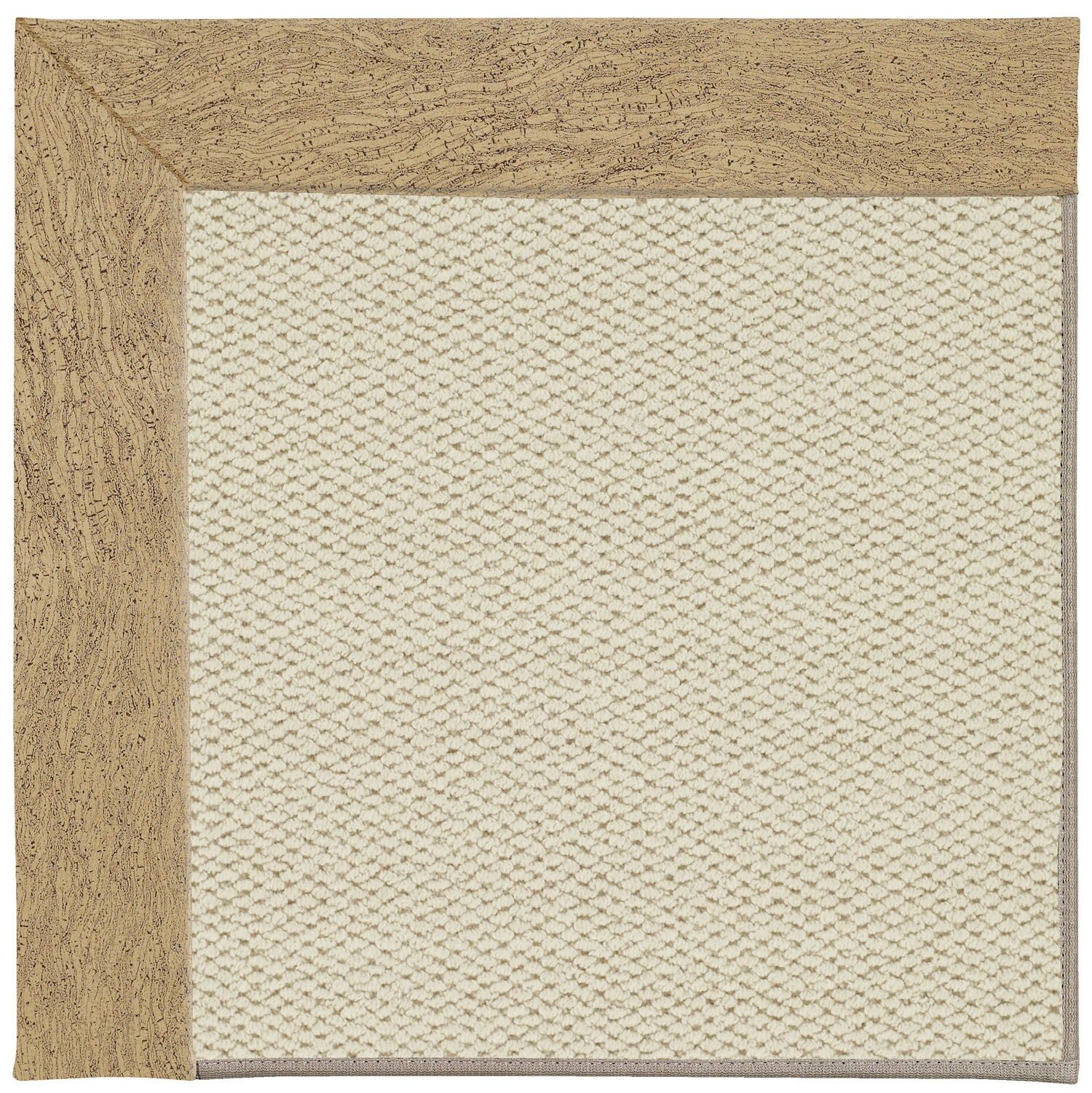 Barrett Linen Machine Tufted Beige Area Rug Rug Size: Rectangle 3' x 5'
