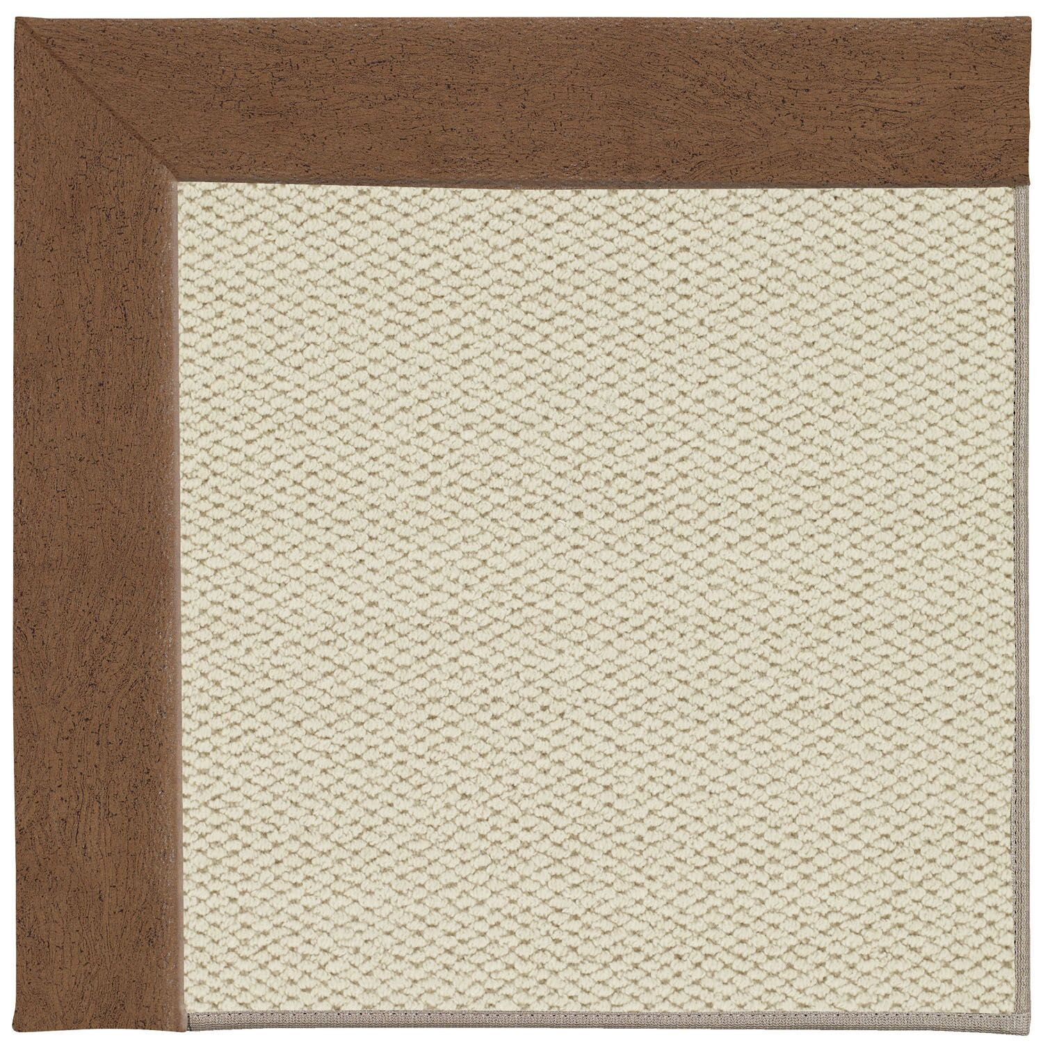 Barrett Linen Machine Tufted Camel/Brown Area Rug Rug Size: Square 8'