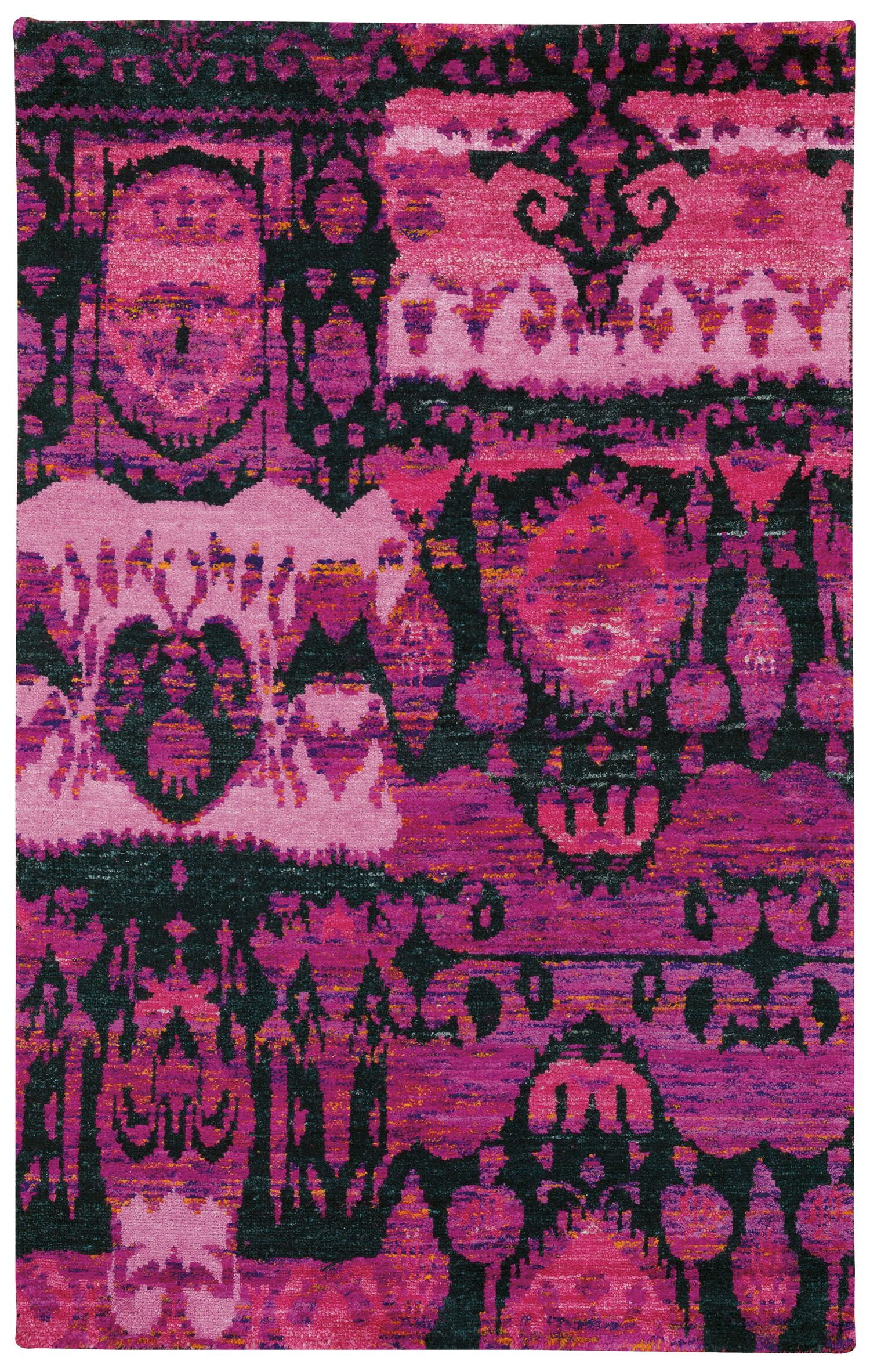 Round About Juggler Hand Knotted Bubblegum Area Rug Rug Size: 5' x 8'