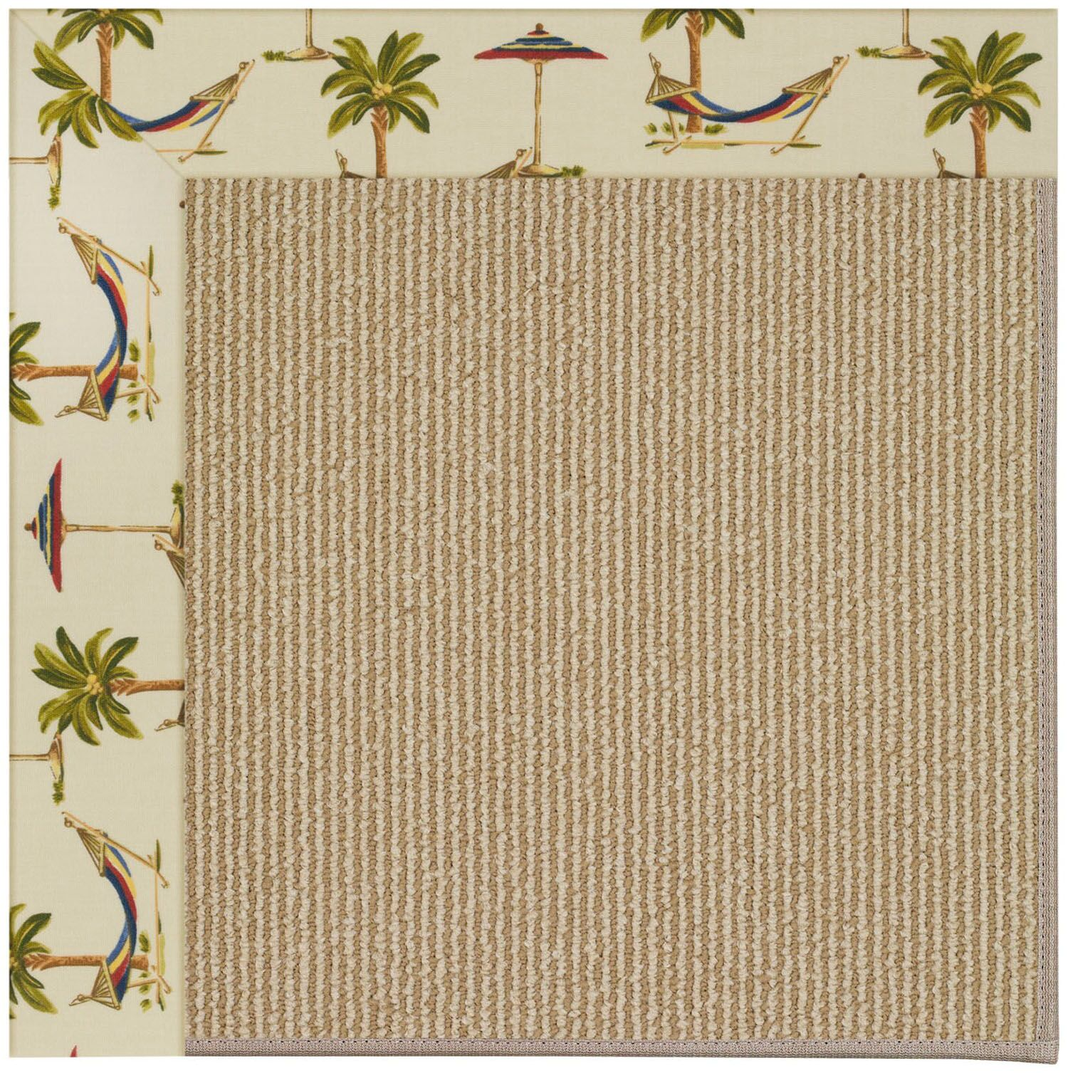 Lisle Machine Tufted Beige Indoor/Outdoor Area Rug Rug Size: Rectangle 9' x 12'