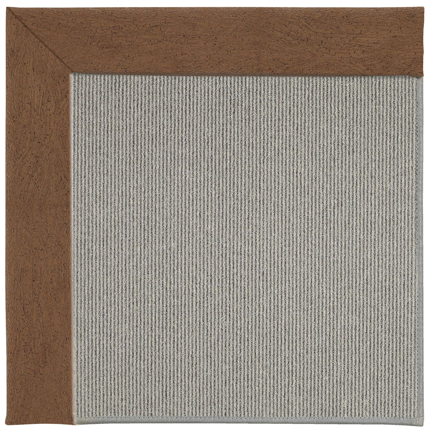 Barrett Silver Machine Tufted Camel/Gray Area Rug Rug Size: Square 6'