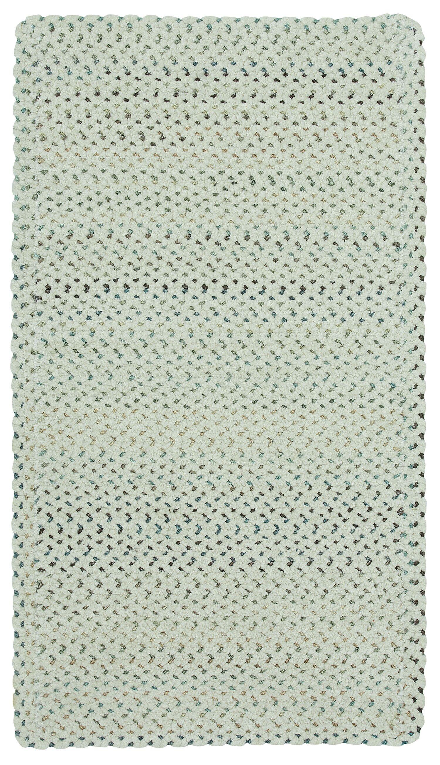 Vivid Cross Sewn Braided Eggshell Area Rug Rug Size: Rectangle 9'2