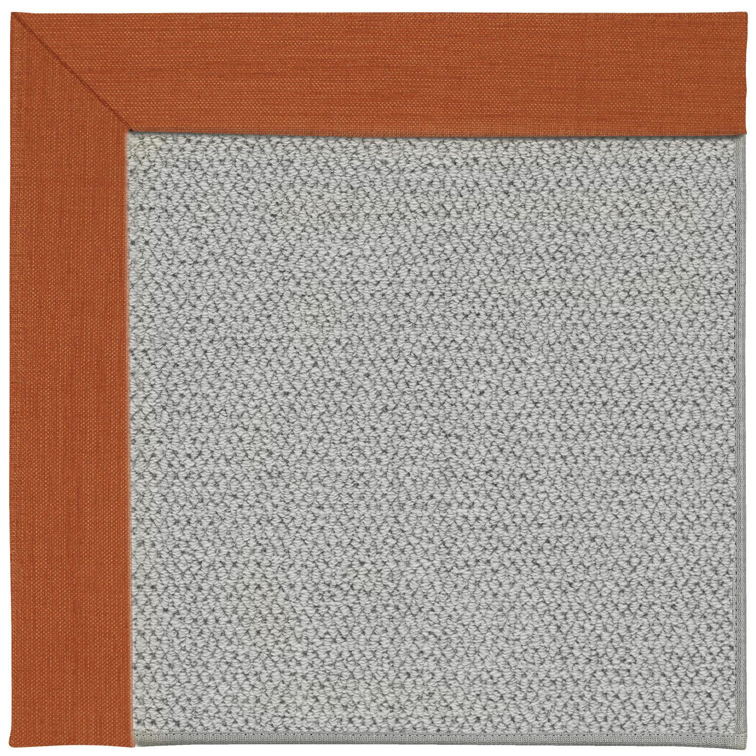 Barrett Silver Machine Tufted Persimmon/Gray Area Rug Rug Size: Rectangle 3' x 5'