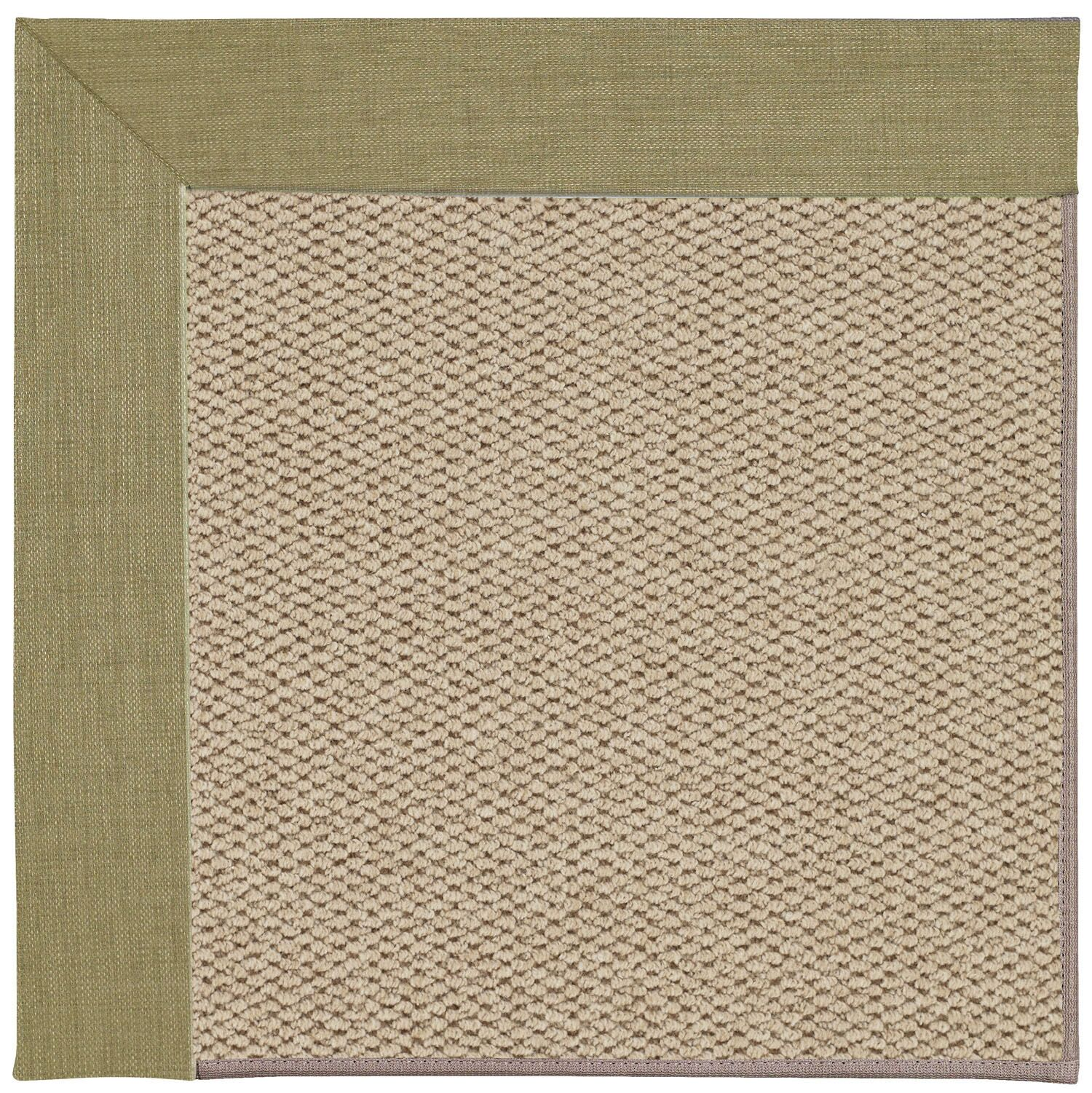Barrett Champagne Machine Tufted Basil/Beige Area Rug Rug Size: Square 6'