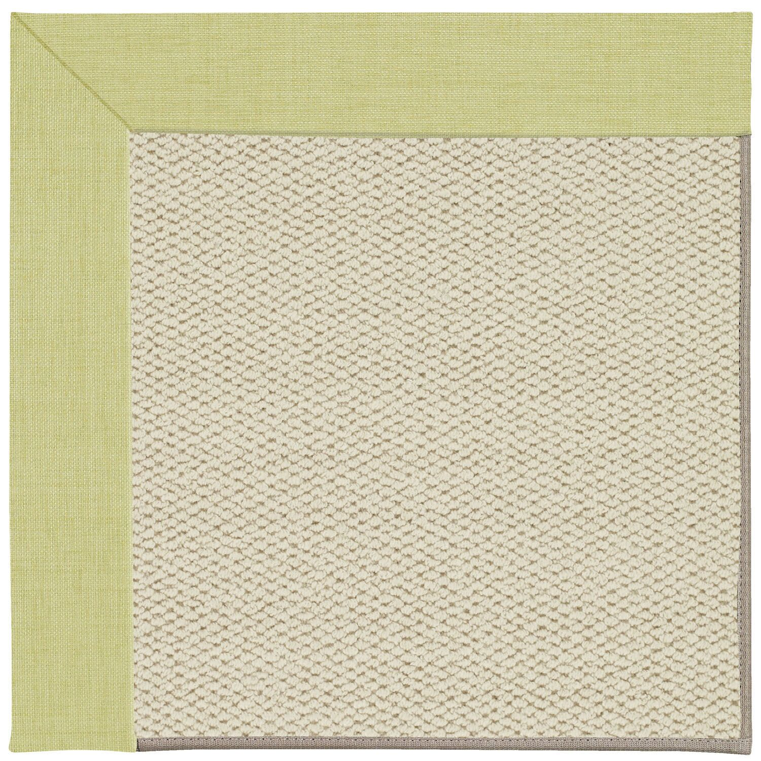 Barrett Linen Machine Tufted Light Green/Beige Area Rug Rug Size: Square 10'