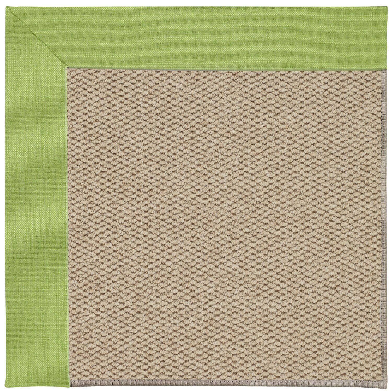 Barrett Champagne Machine Tufted Green Grass/Beige Area Rug Rug Size: Rectangle 10' x 14'