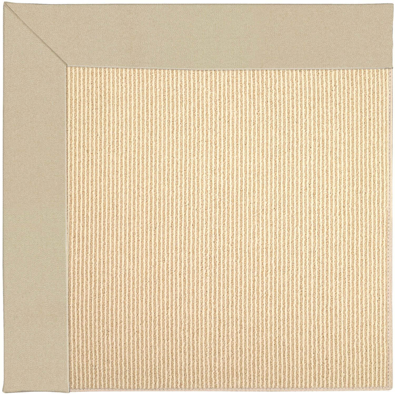 Lisle Machine Tufted Ecru/Beige Indoor/Outdoor Area Rug Rug Size: Rectangle 4' x 6'