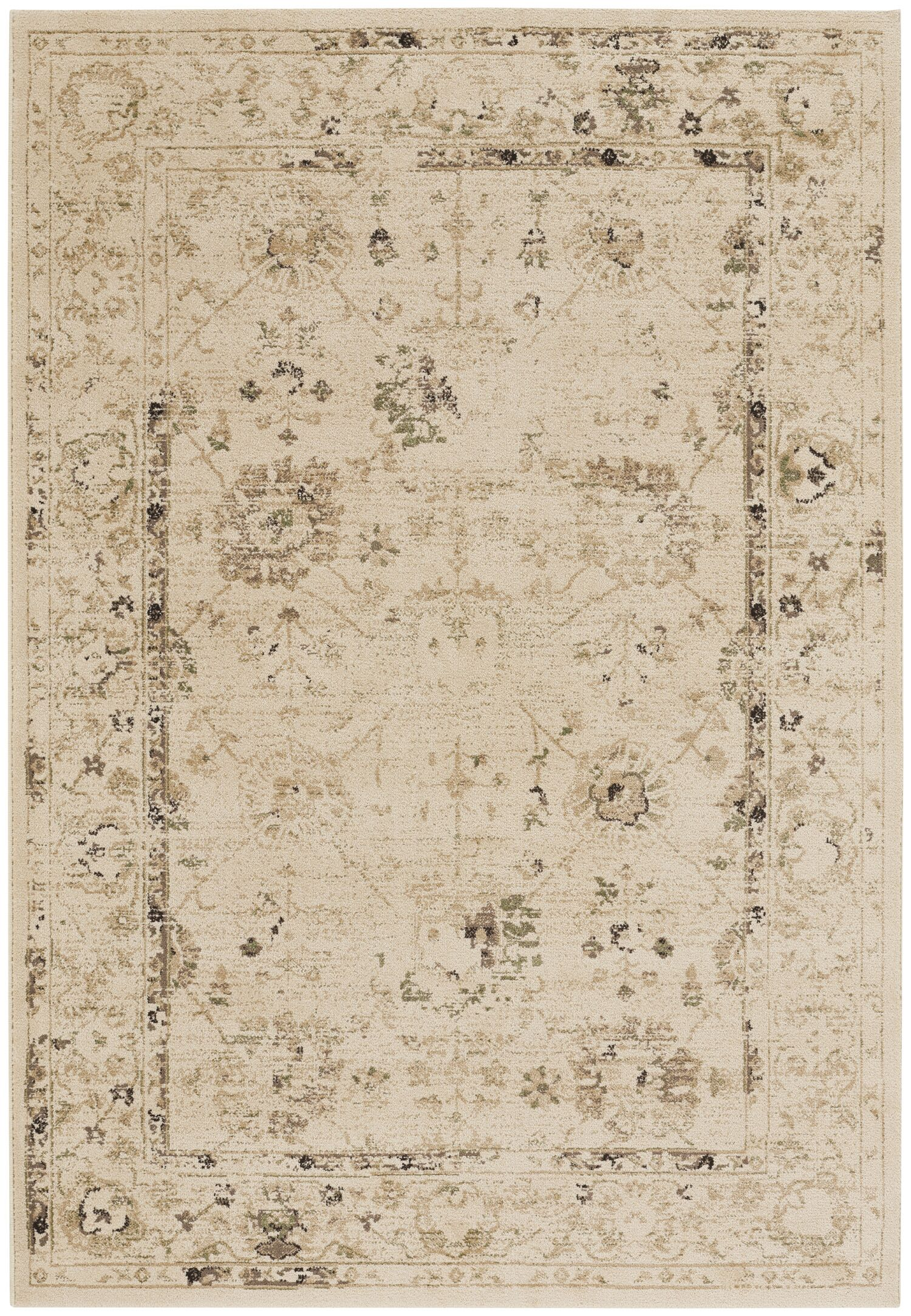 Eila Buff Indoor/Outdoor Area Rug Rug Size: 3'11