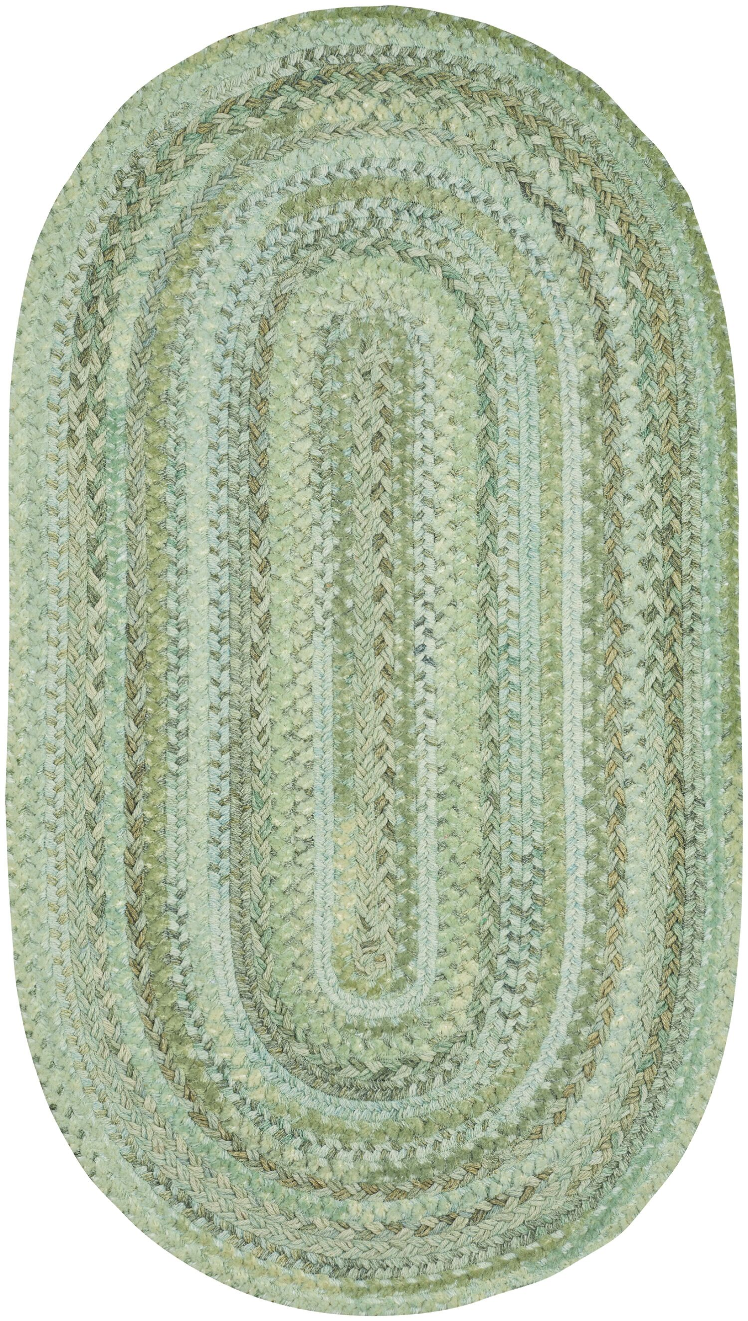 Lyam Green Area Rug Rug Size: Oval 1'8