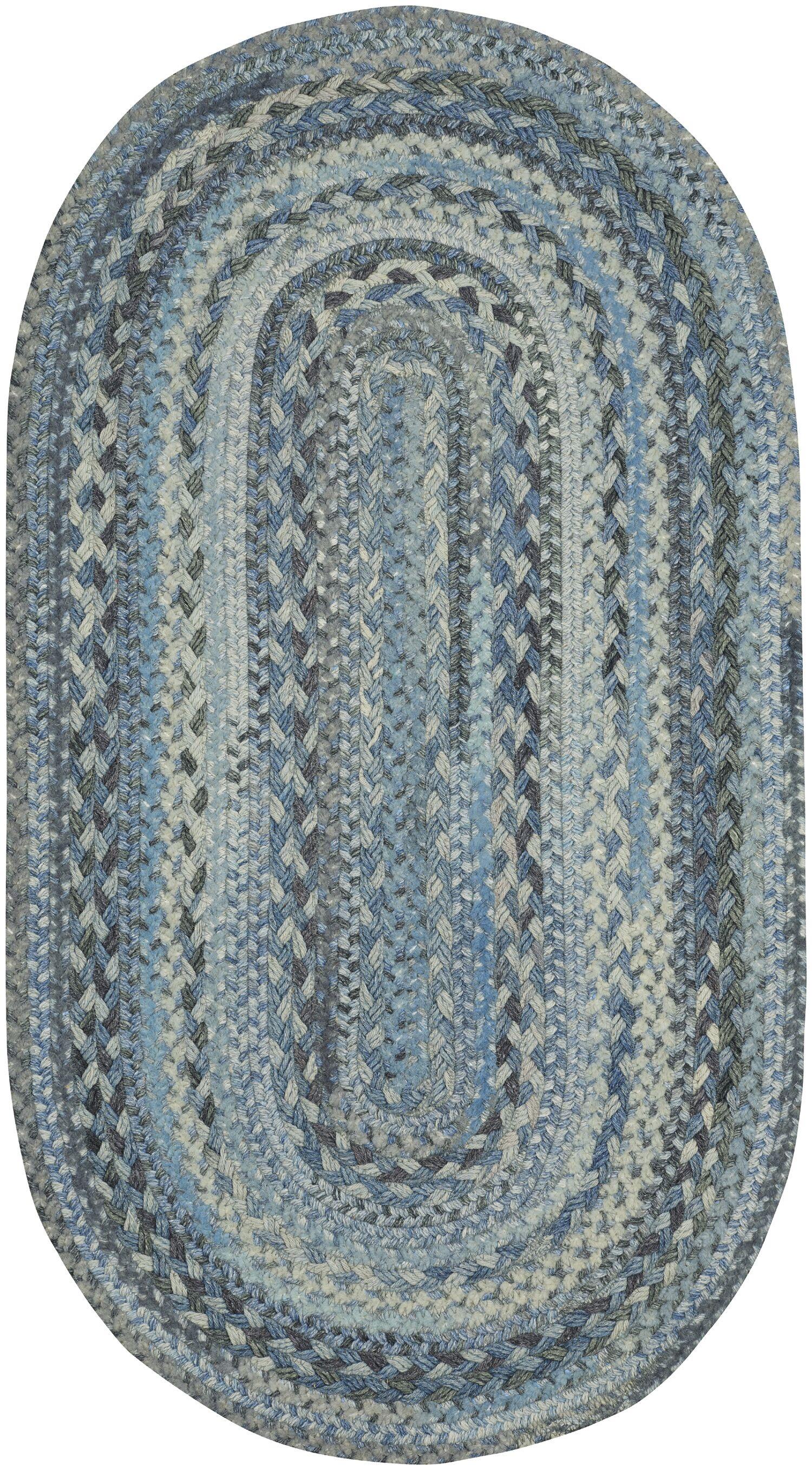 Lyam Blue Area Rug Rug Size: Oval 8' x 11'