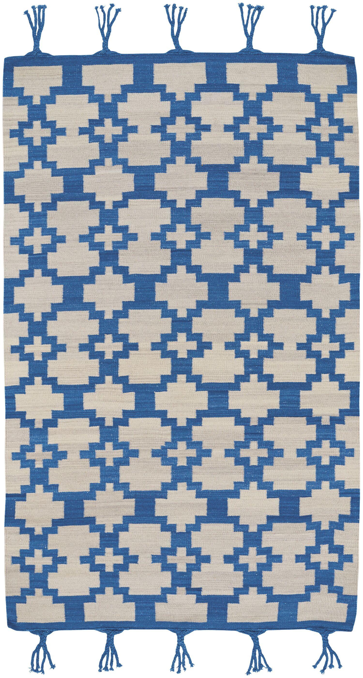 Pillar Blue Area Rug Rug Size: 5' x 8'