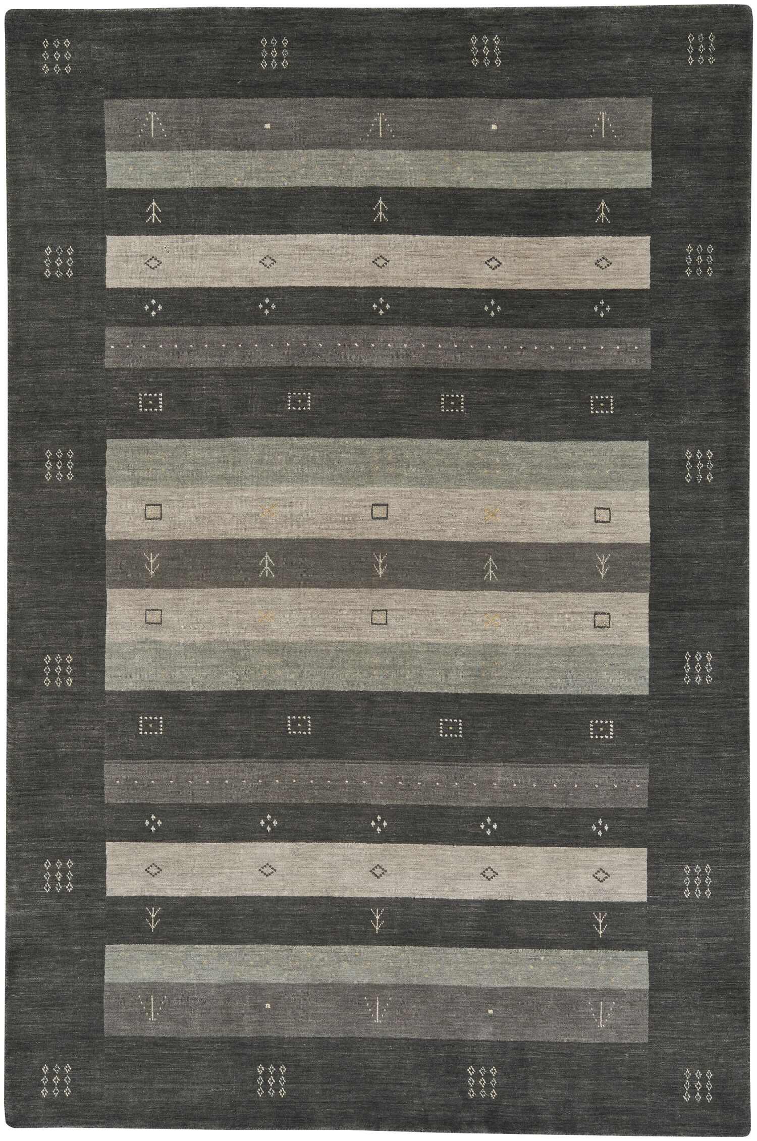 Gava Hand-Tufted Charcoal Area Rug Rug Size: 3' x 5'