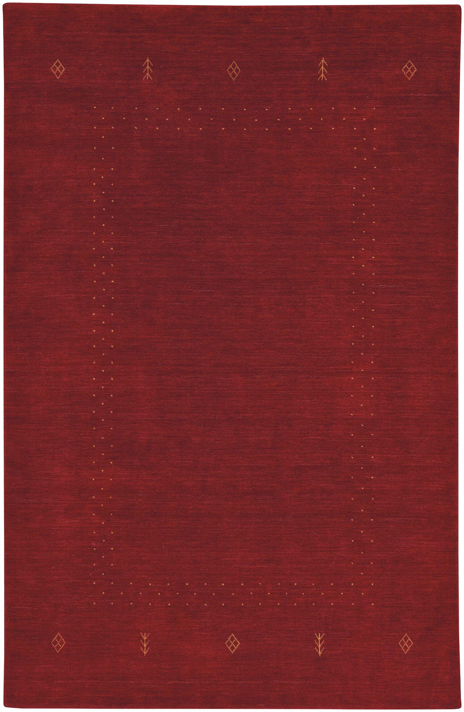Gava Hand-Tufted Crimson Area Rug Rug Size: Rectangle 8' x 10'