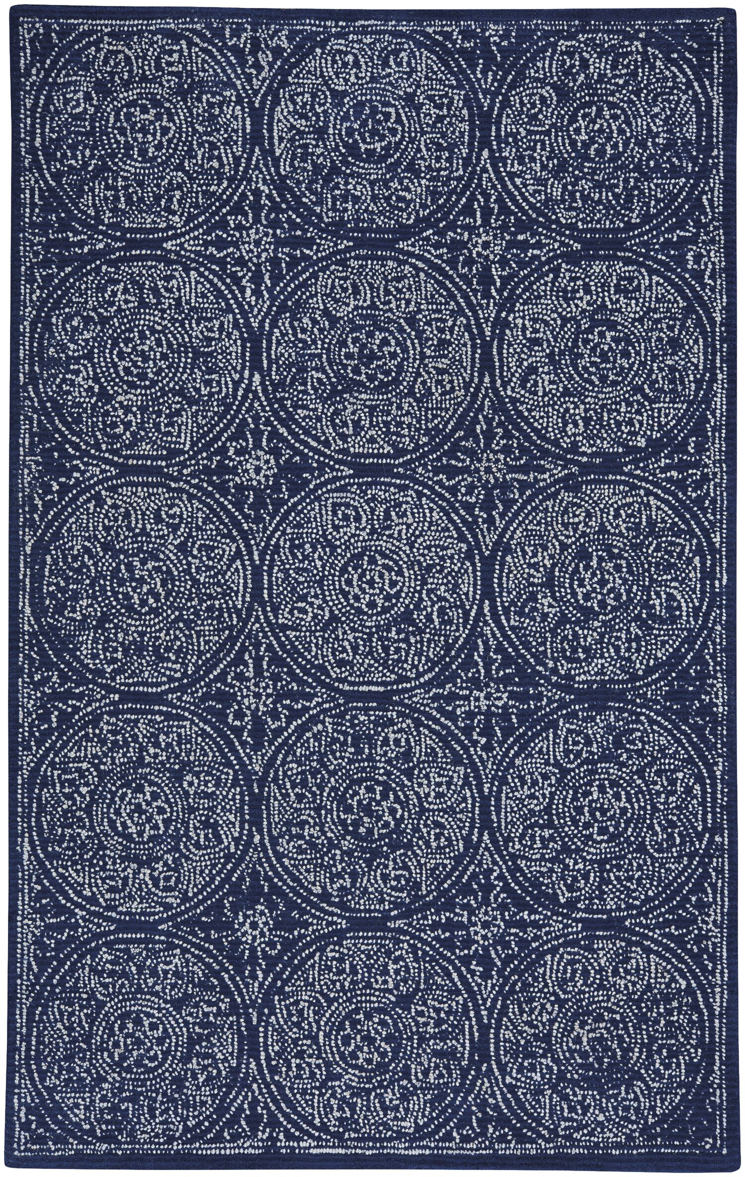 Allure Hand-Tufted Indigo Area Rug Rug Size: 8' x 10'