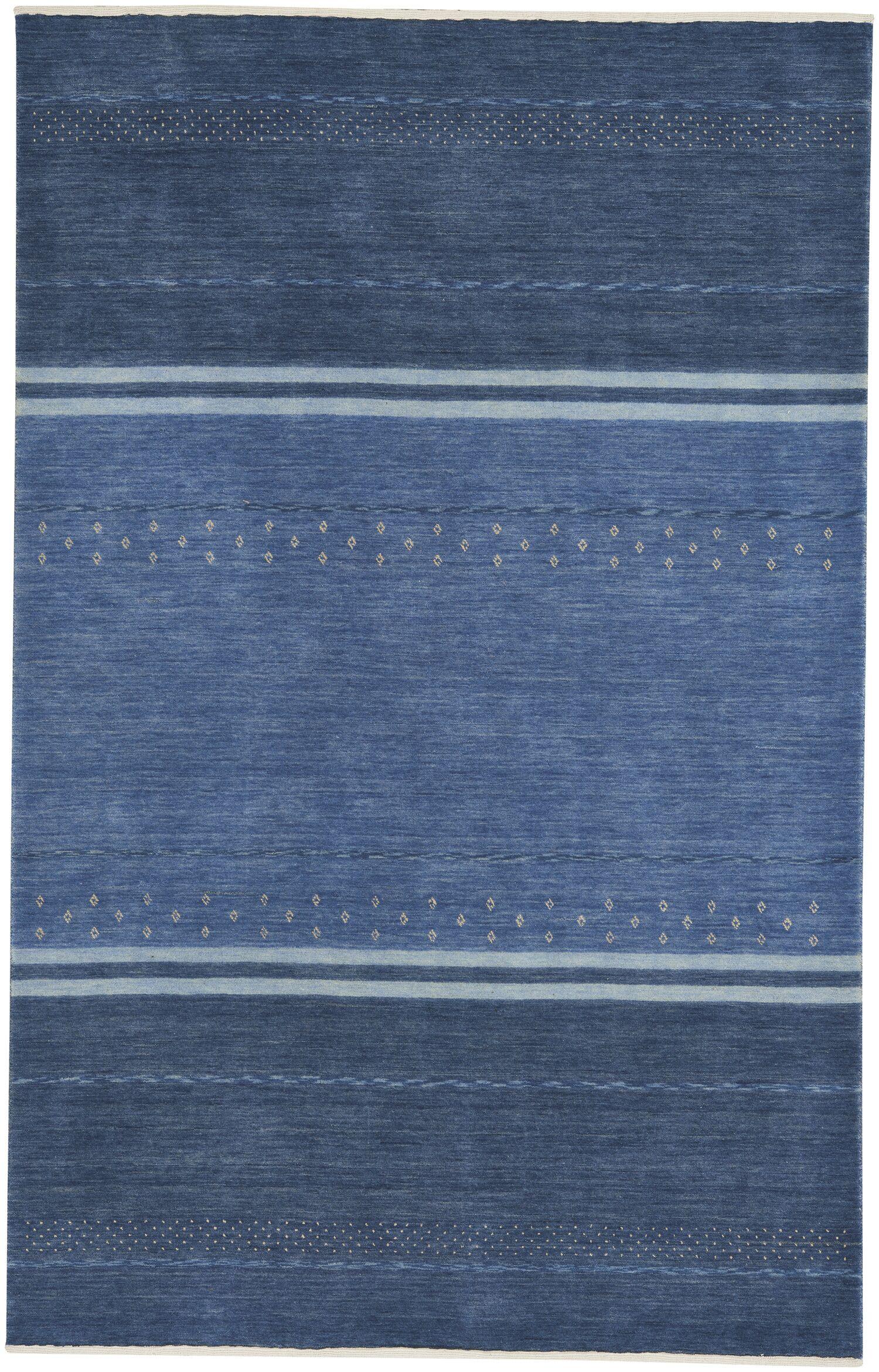Gava Hand-Tufted Cobalt Area Rug Rug Size: 5' x 8'