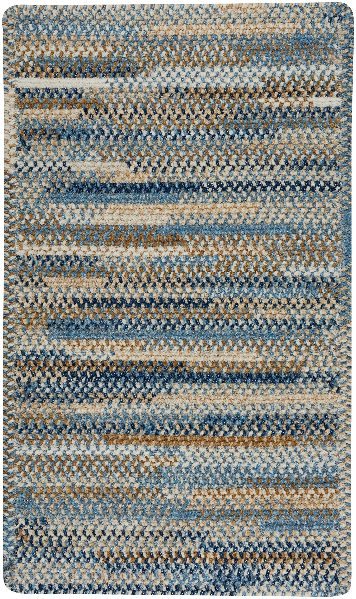 Eben Blue Area Rug Rug Size: Rectangle 11'4