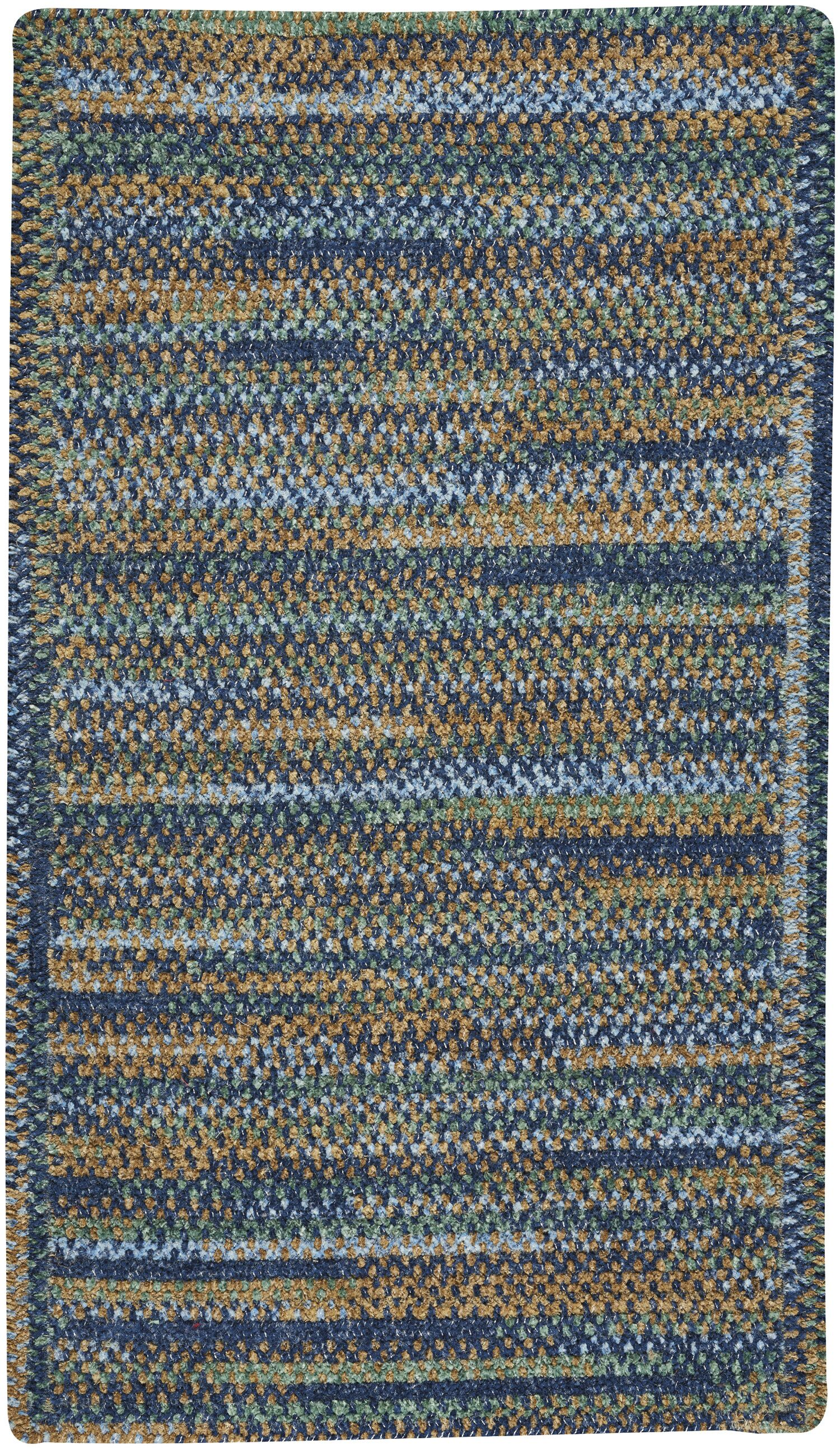 Eben Ocean Blue Area Rug Rug Size: Rectangle 4' x 6'
