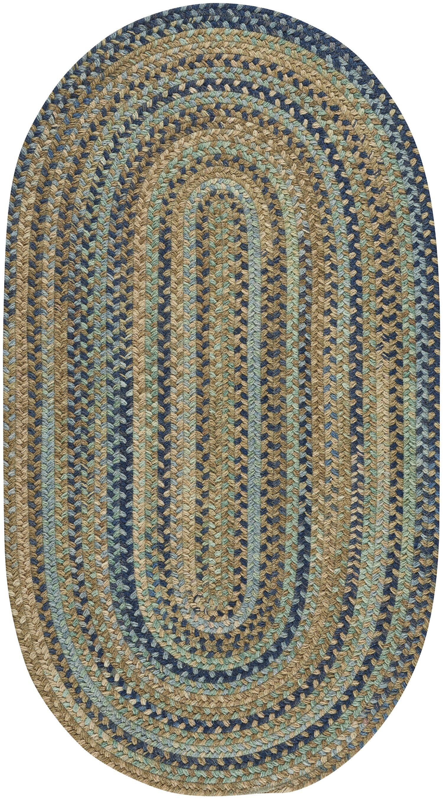 Myrtille Green Area Rug Rug Size: Oval 7' x 9'
