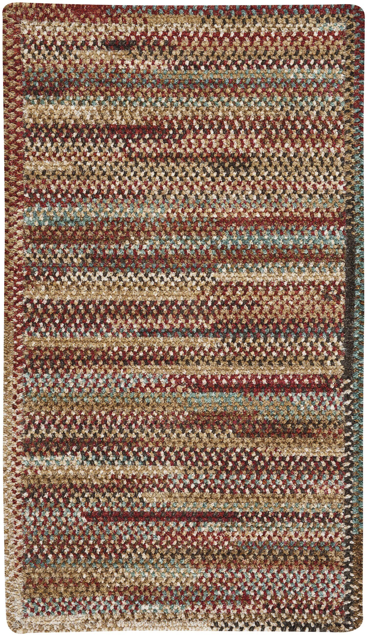 Eben Deep Red Area Rug Rug Size: Rectangle 5' x 8'