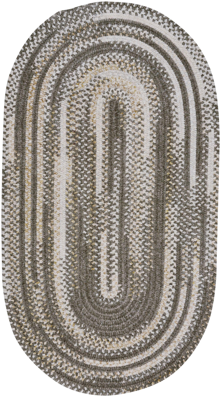 Eben Grey Area Rug Rug Size: Oval 4' x 6'