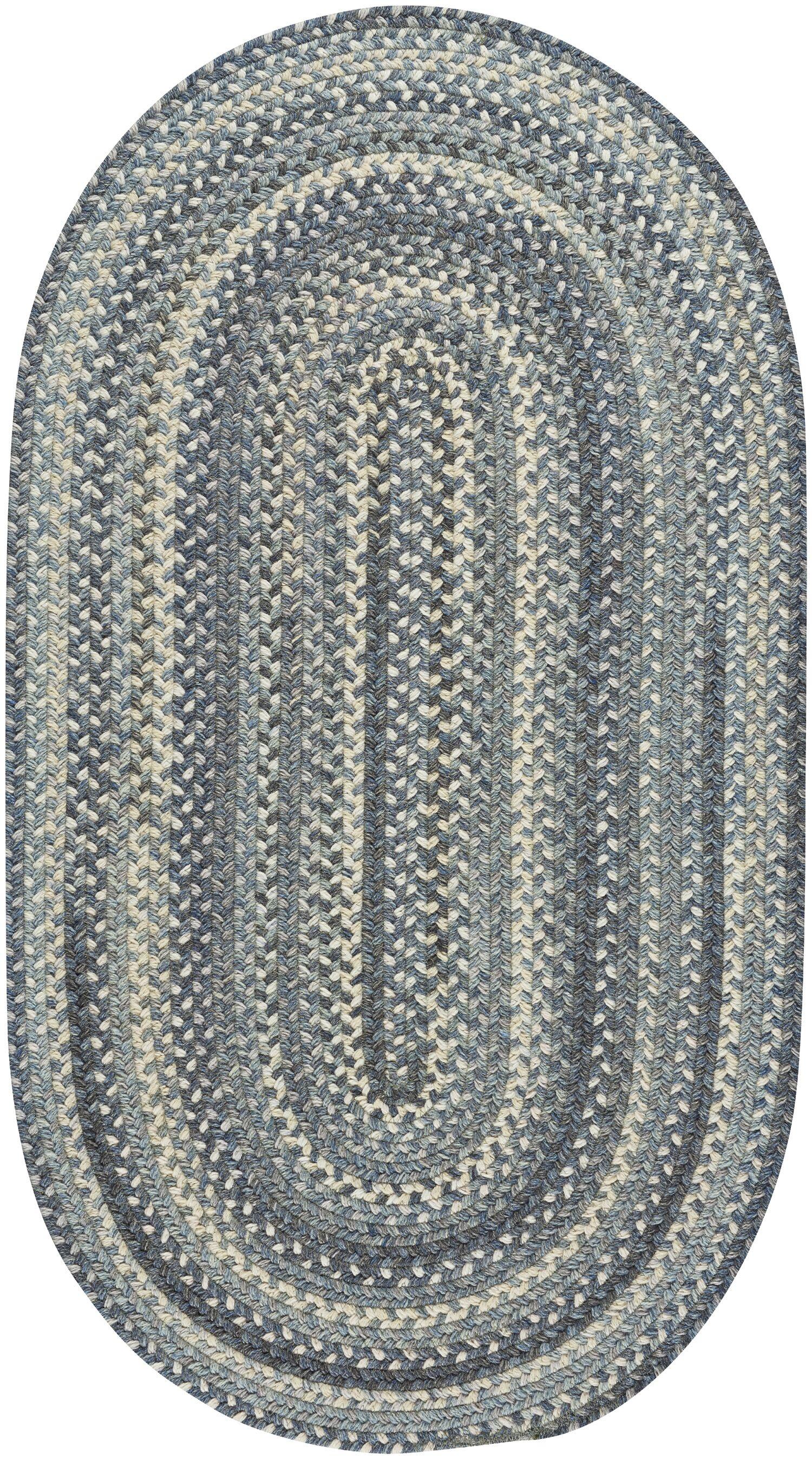 Myrtille Blue Jean Area Rug Rug Size: Oval 2'3