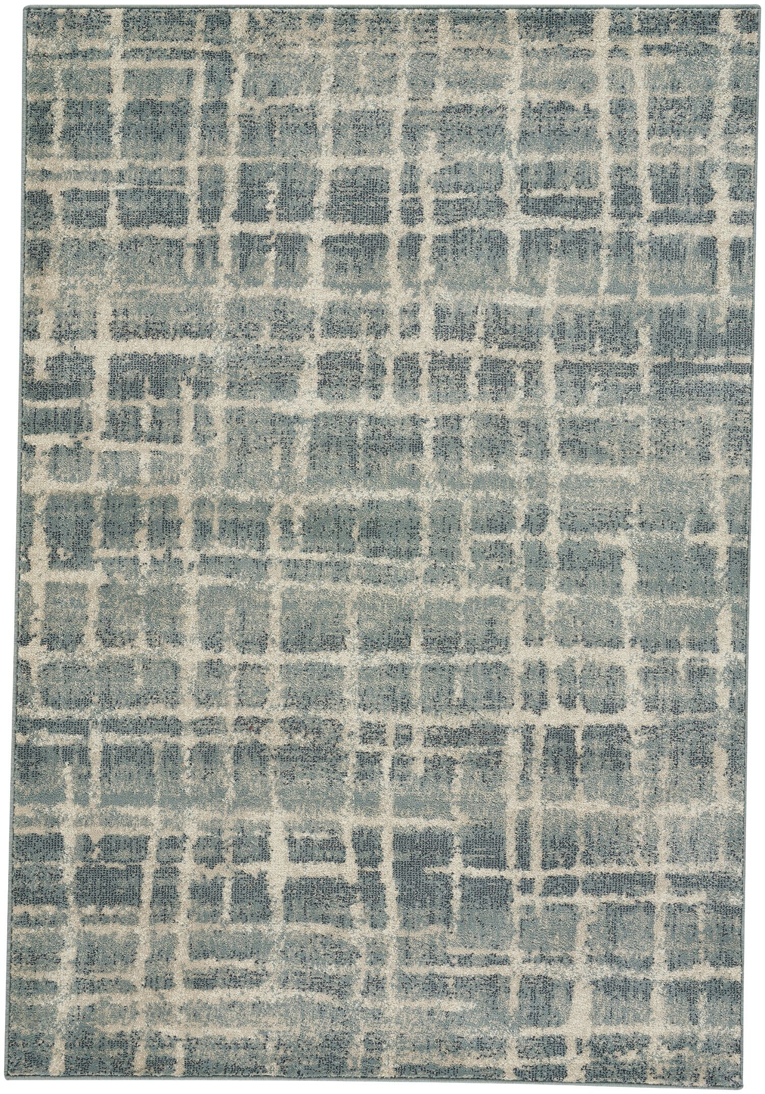 Adalyn Azure Blue Area Rug Rug Size: 5'3