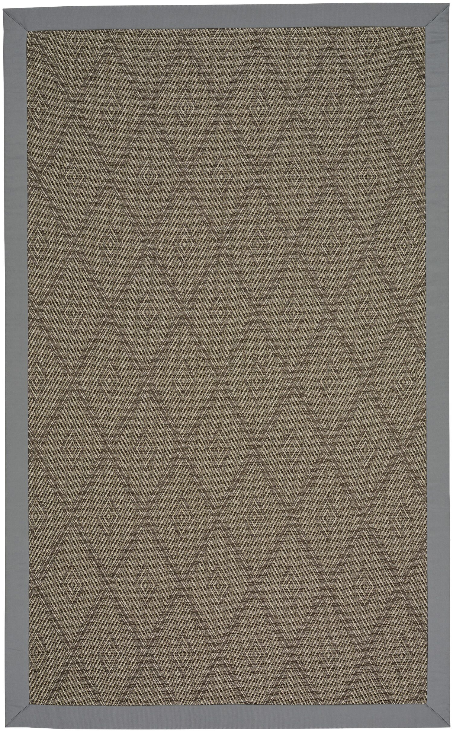Gresham Earl Gray Braided Brown Indoor/Outdoor Area Rug Rug Size: Octagon 8'