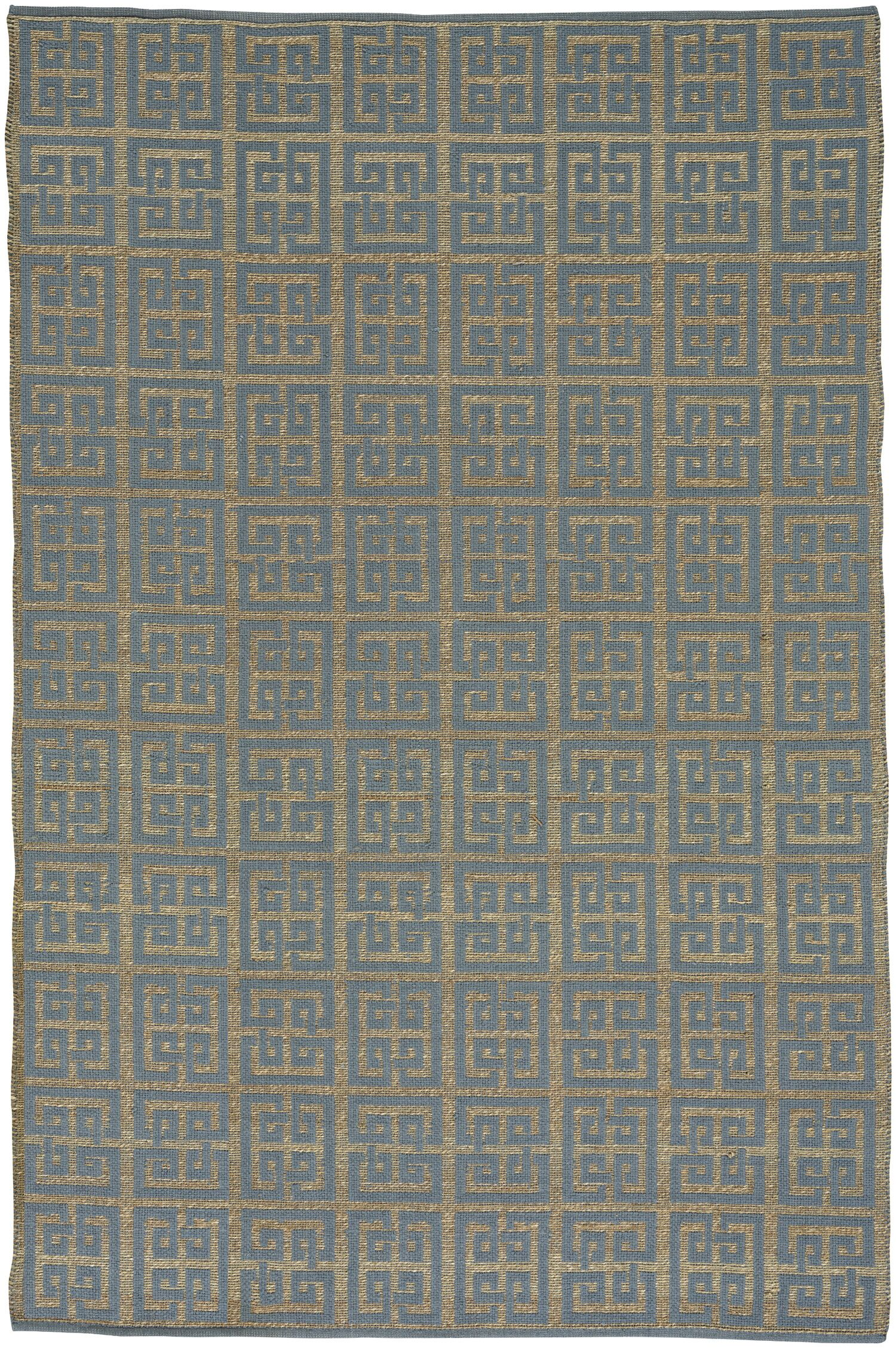 Maci Flat Blue/Brown Area Rug Rug Size: 3' x 5'