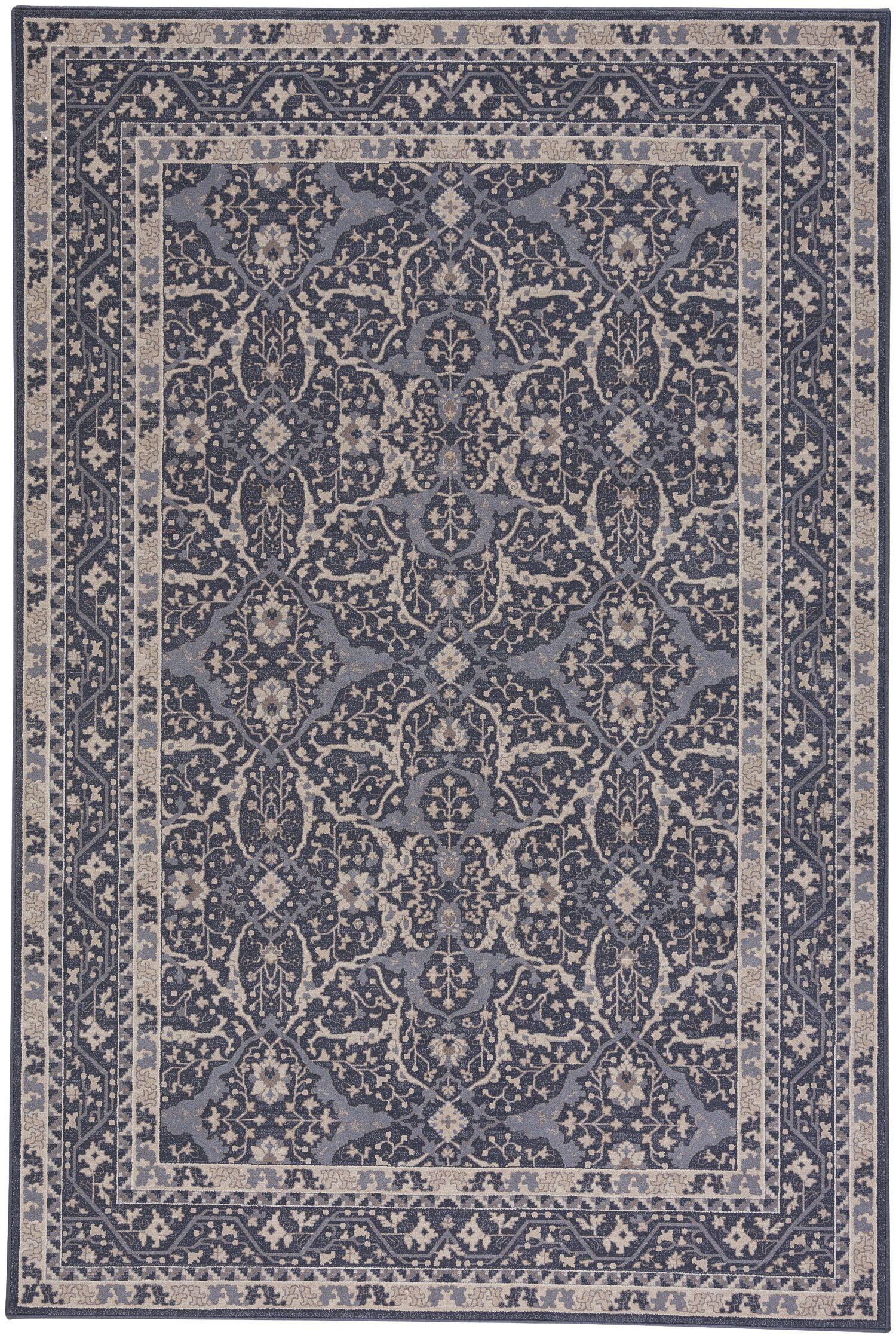 Westerlo Ziegler Wool Blue Area Rug Rug Size: 5'3