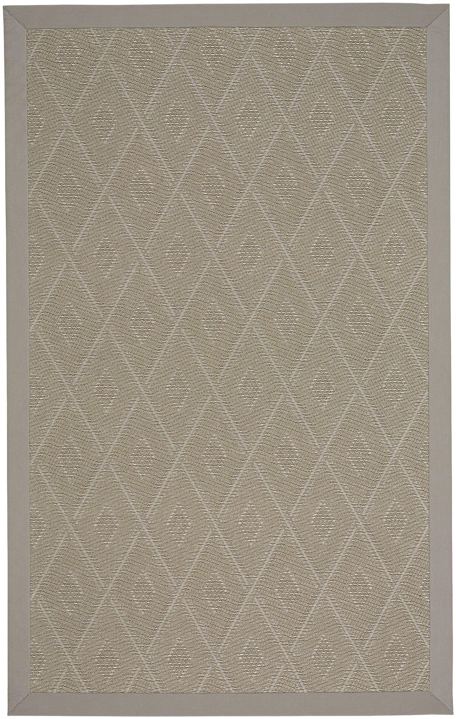 Gresham Braided Tan Buff Indoor/Outdoor Area Rug Rug Size: Rectangle 12' x 15'