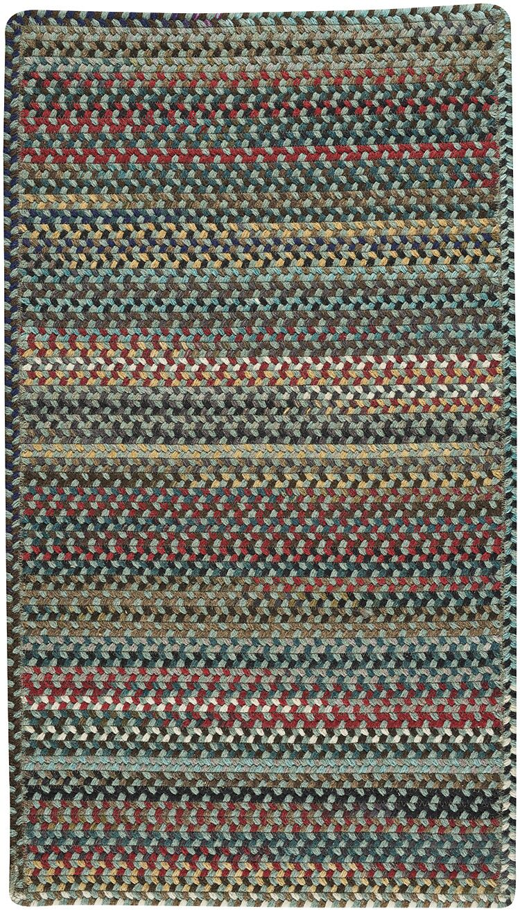 Heidi Green/Red Area Rug Rug Size: Square 8'6